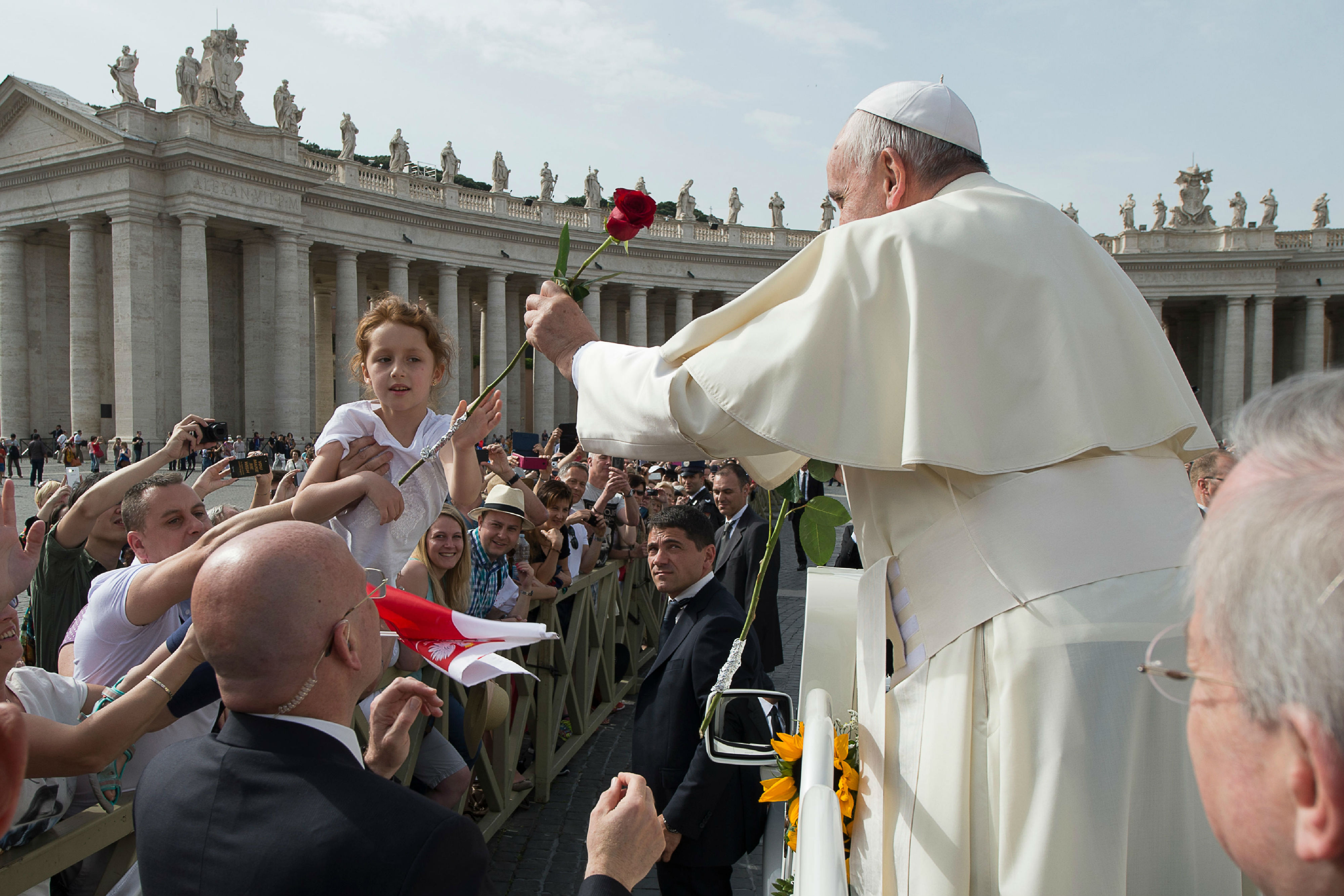 Pope Francis during the General Audience of Wednesday 6th of May 2015