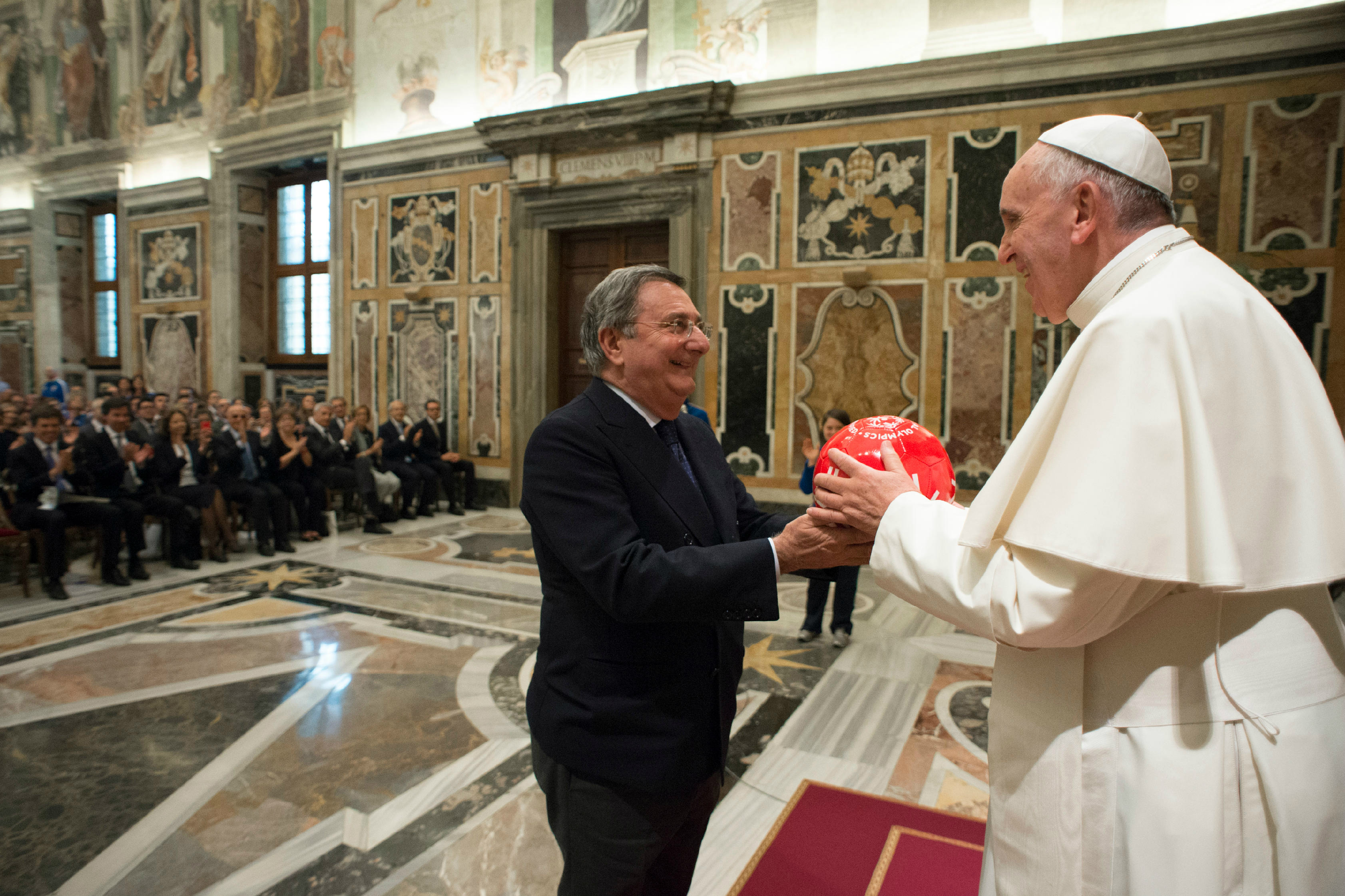 "Pope Francis meets with a delegation of athletes of ""Special Olympics Italia"""