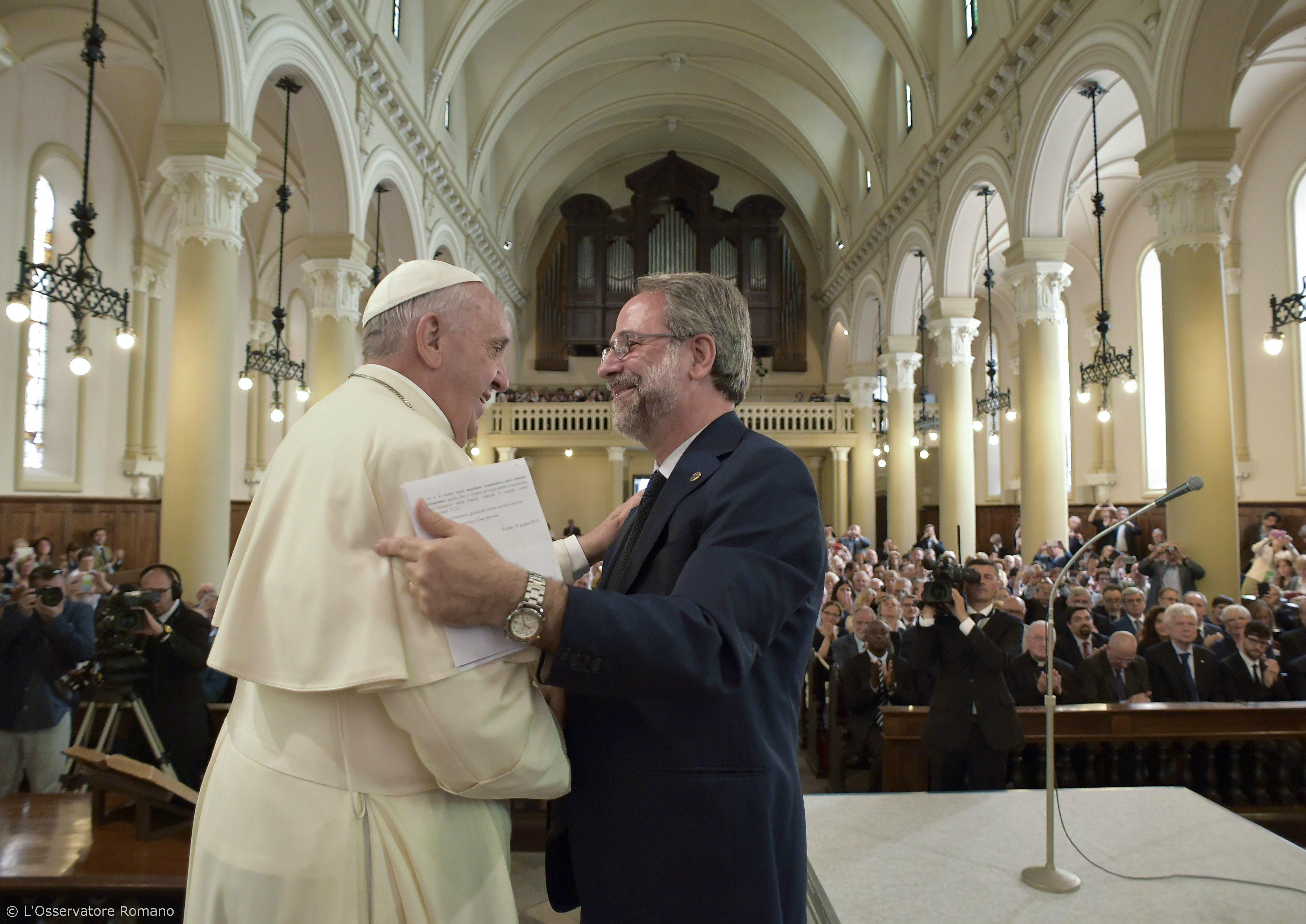 Pope Francis and Eugenio Bernardini