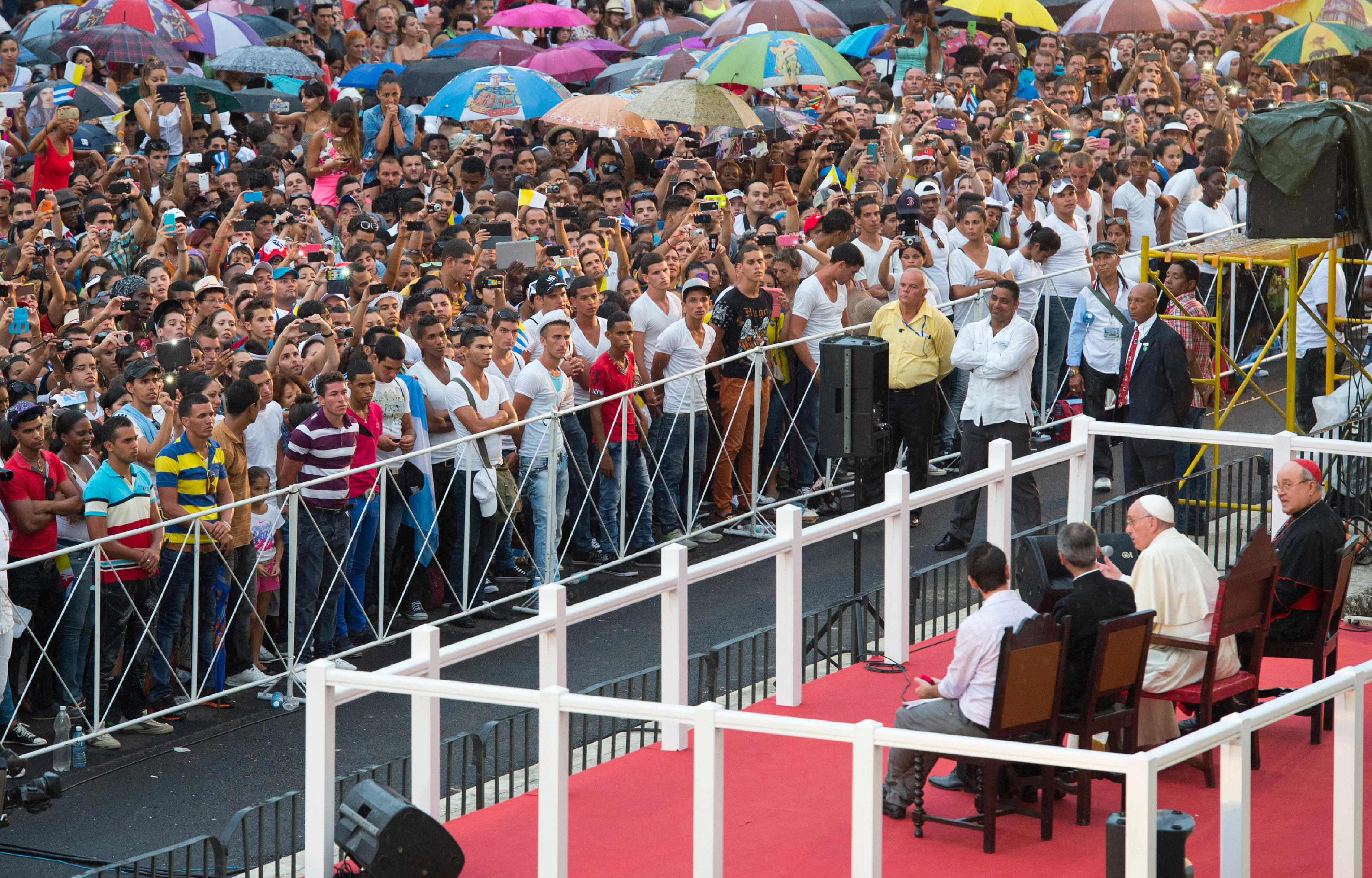 Pope Francis' meeting with Cuban youth in Havana