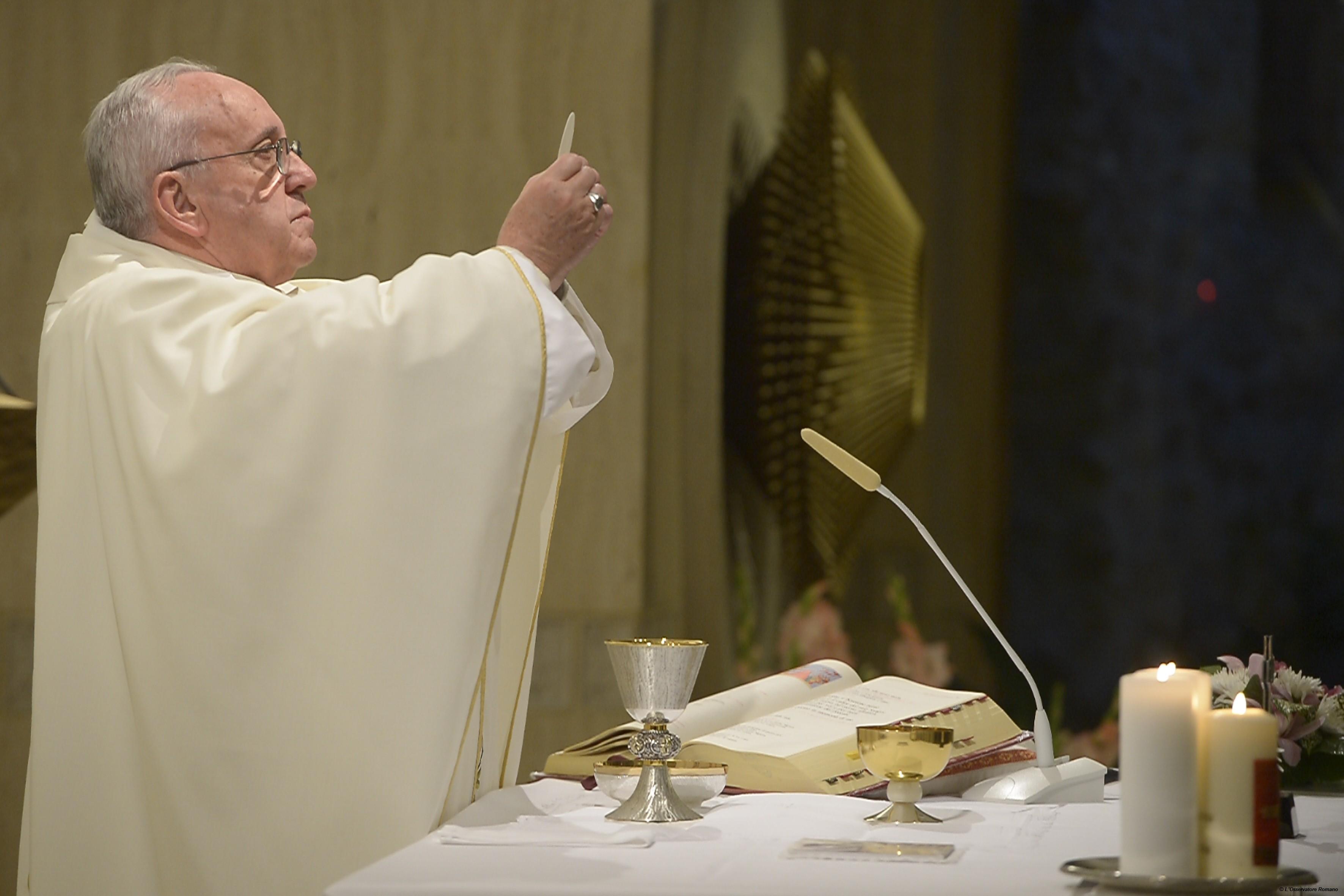 Pope Francis celebrates Morning Mass in the Domus Sanctae Marthae