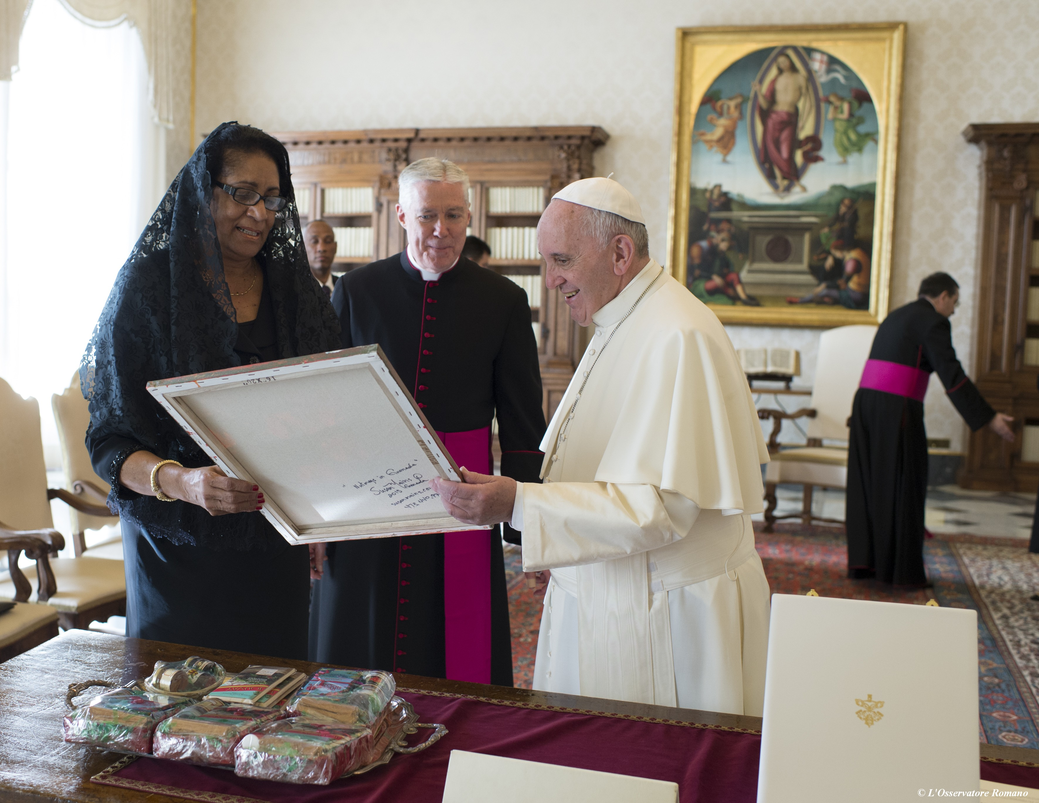Pope Francis receives in audience the governor general of Grenada