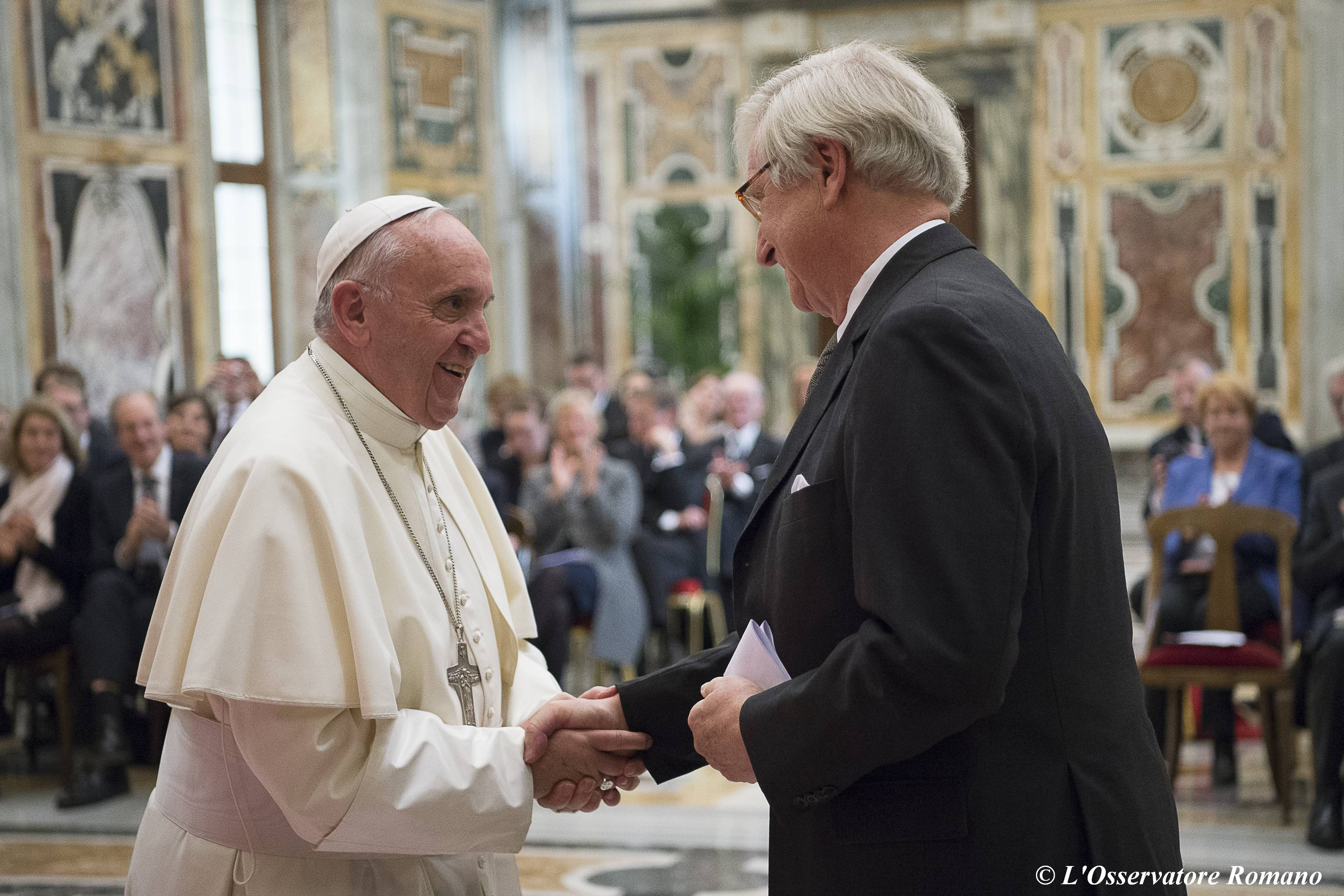Pope Francis receives in audience members of the Romano Guardini Foundation