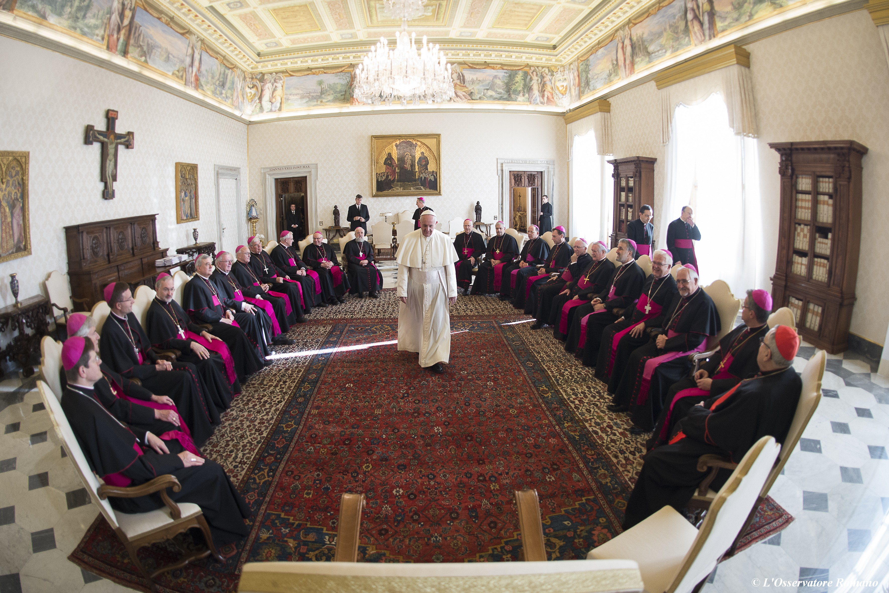 """Pope Francis receives the German bishops during their visit """"ad limina apostolorum"""" (1st Group)"""