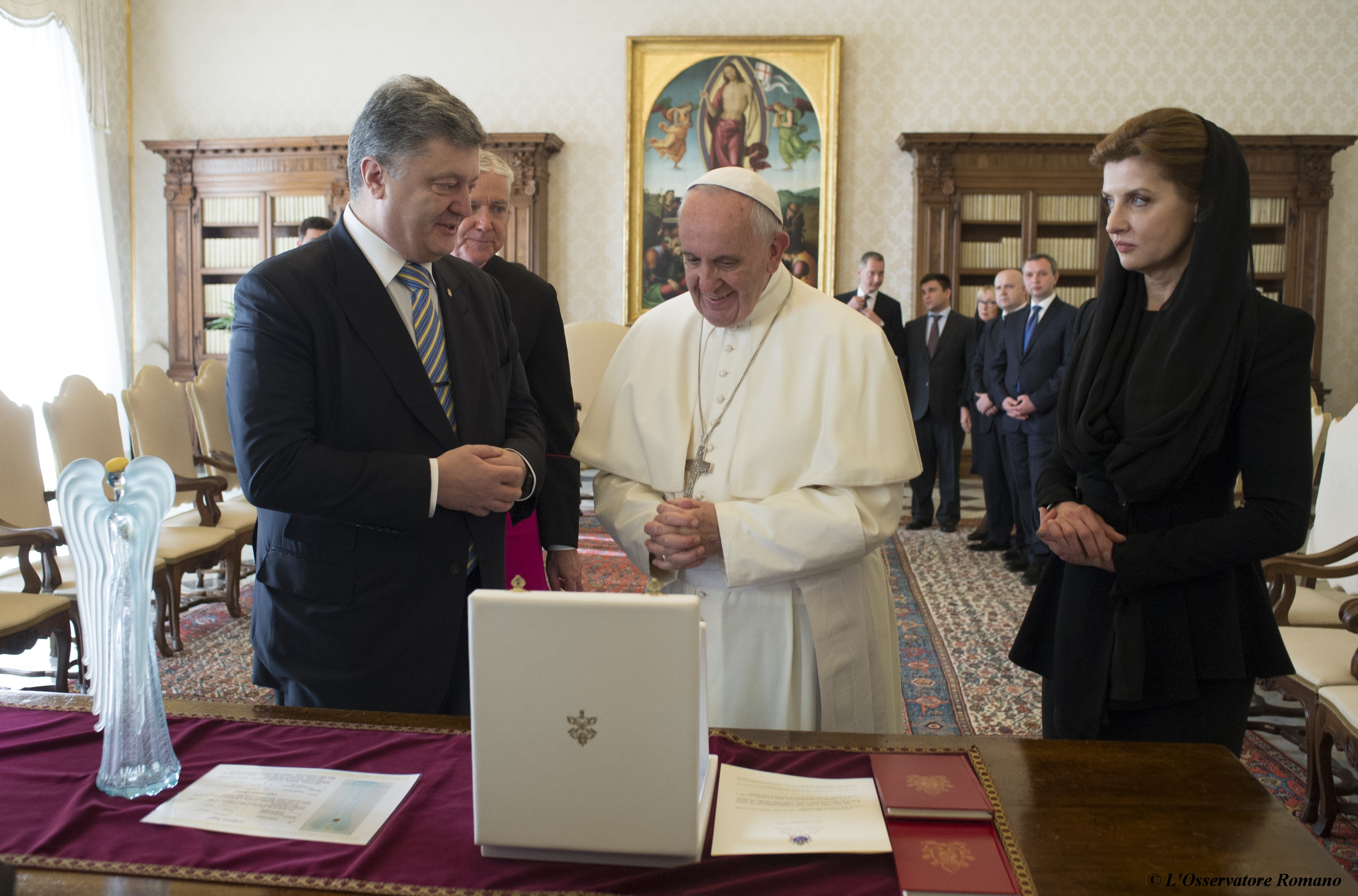 Papal audience to the president of Ukraine