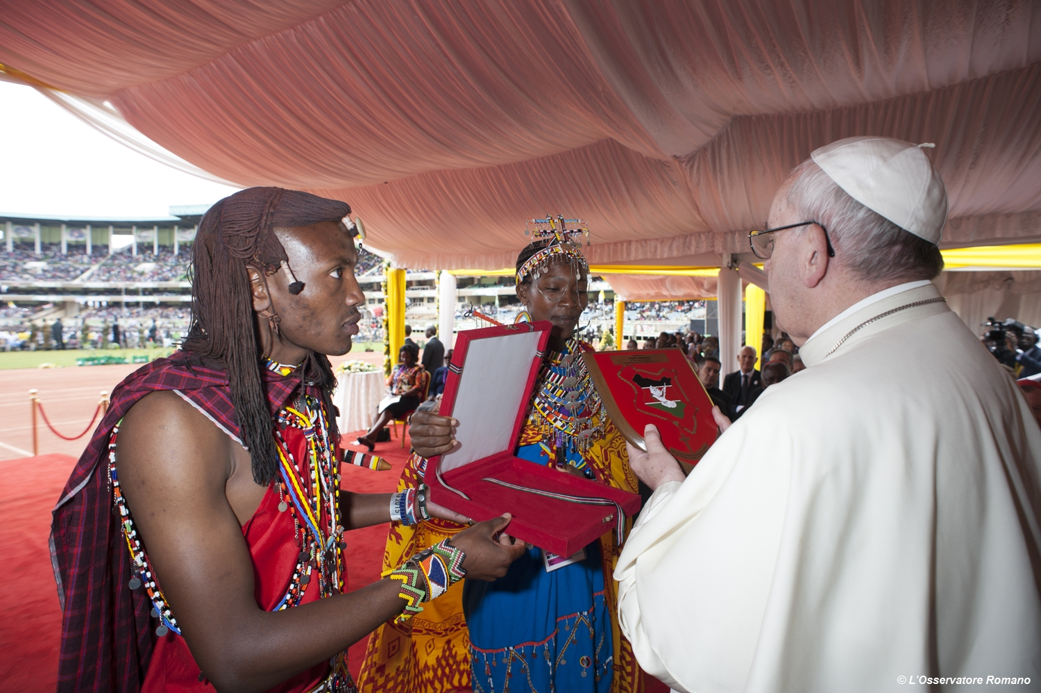 Pope Francis' meeting with young people at the  Kasarani Stadium in Nairobi