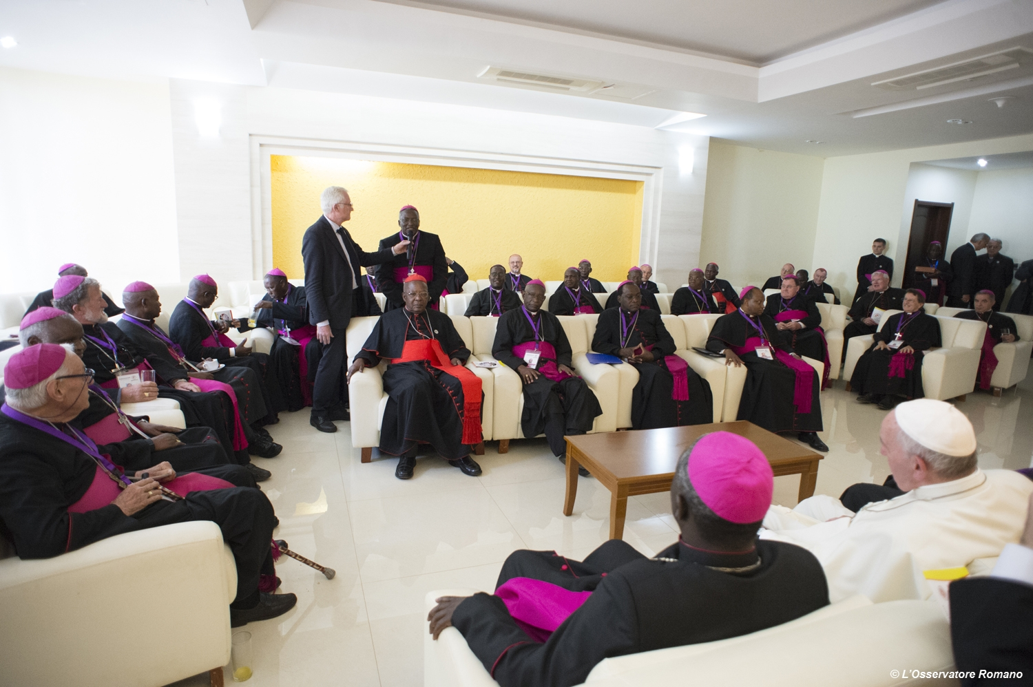 Pope Francis' meeting with the bishops of Kenya in the VIP-Room of the Kasarani Stadium