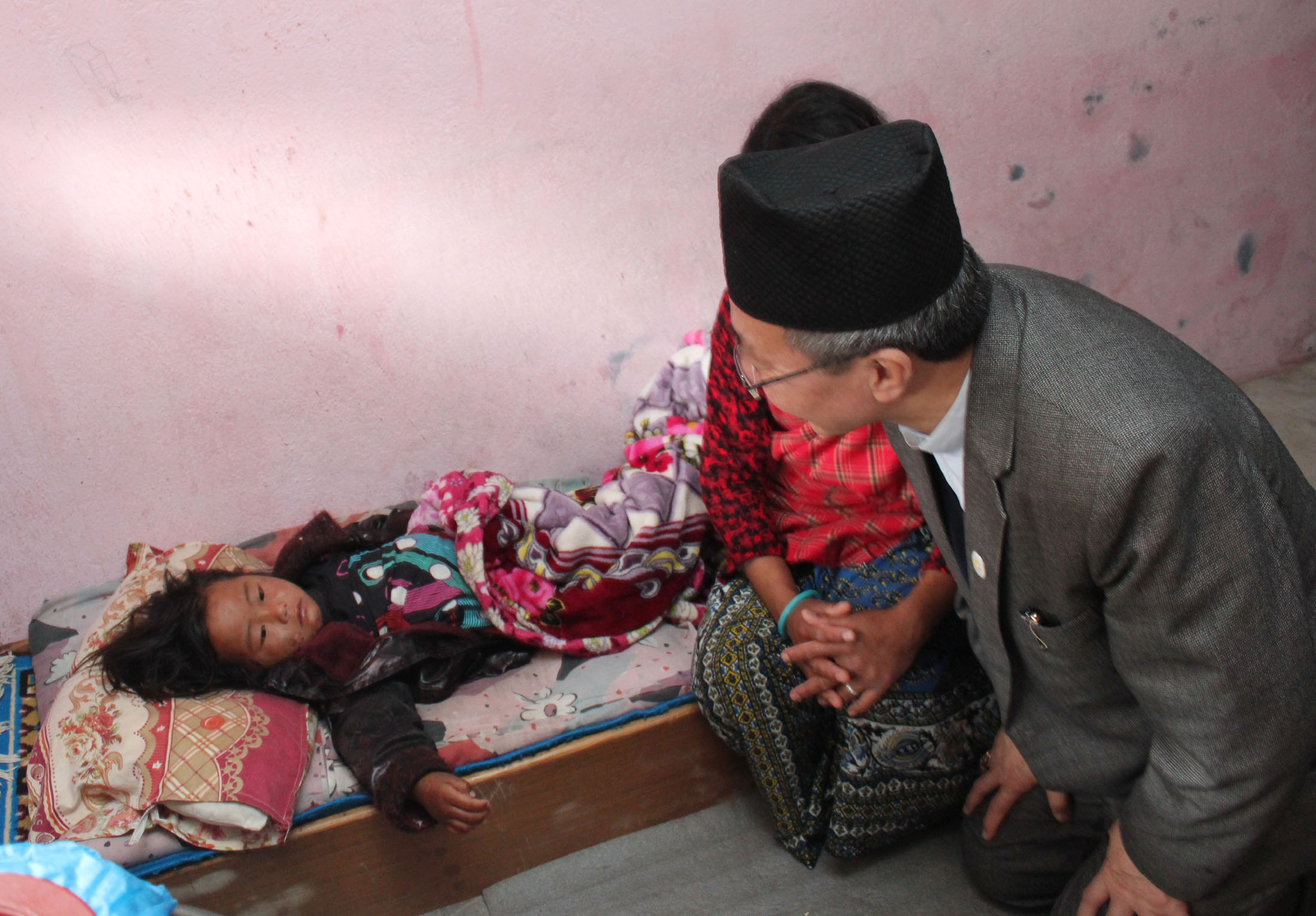 Bishop Simick visits Sujina Ghale