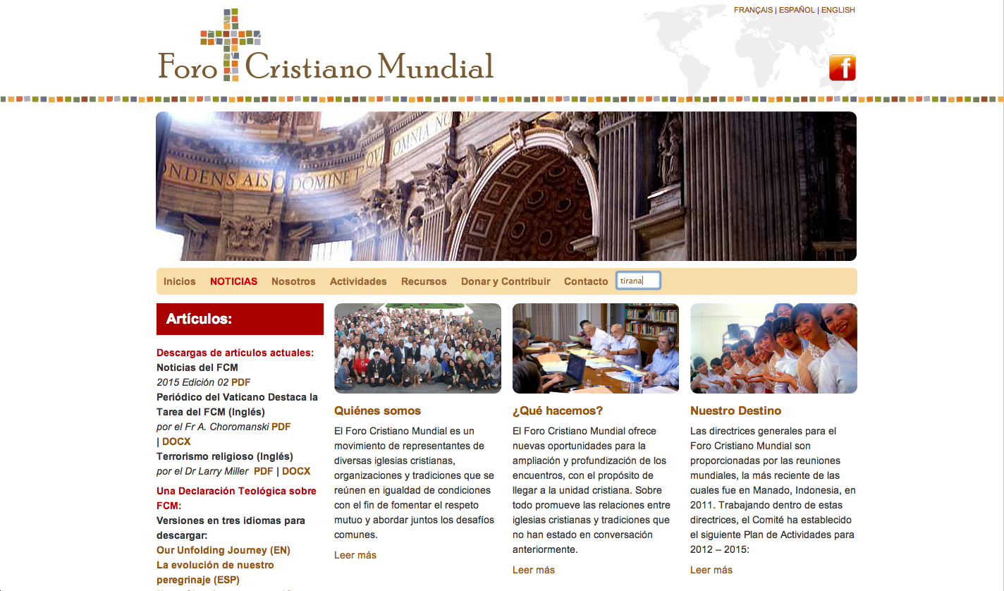 Website of The Global Christian Forum