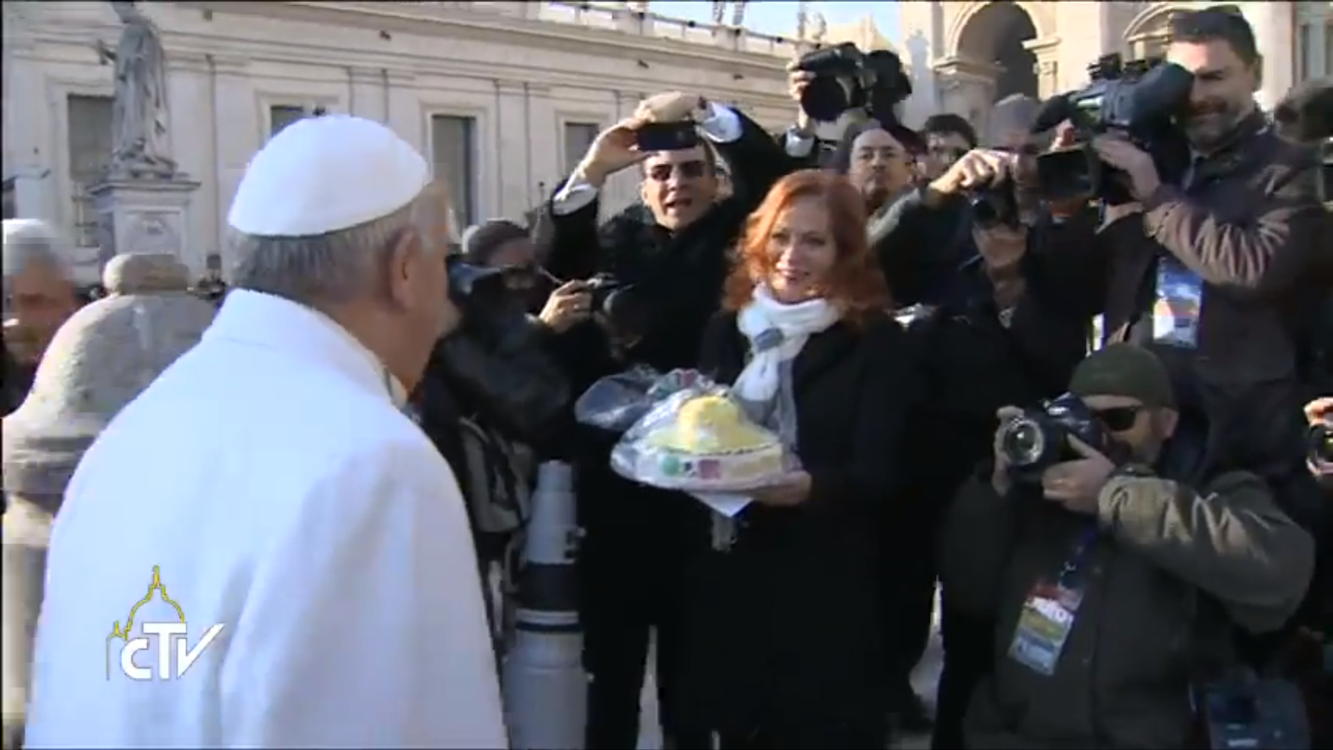 "A ""sombrero"" for the Pope's 79th birthday"