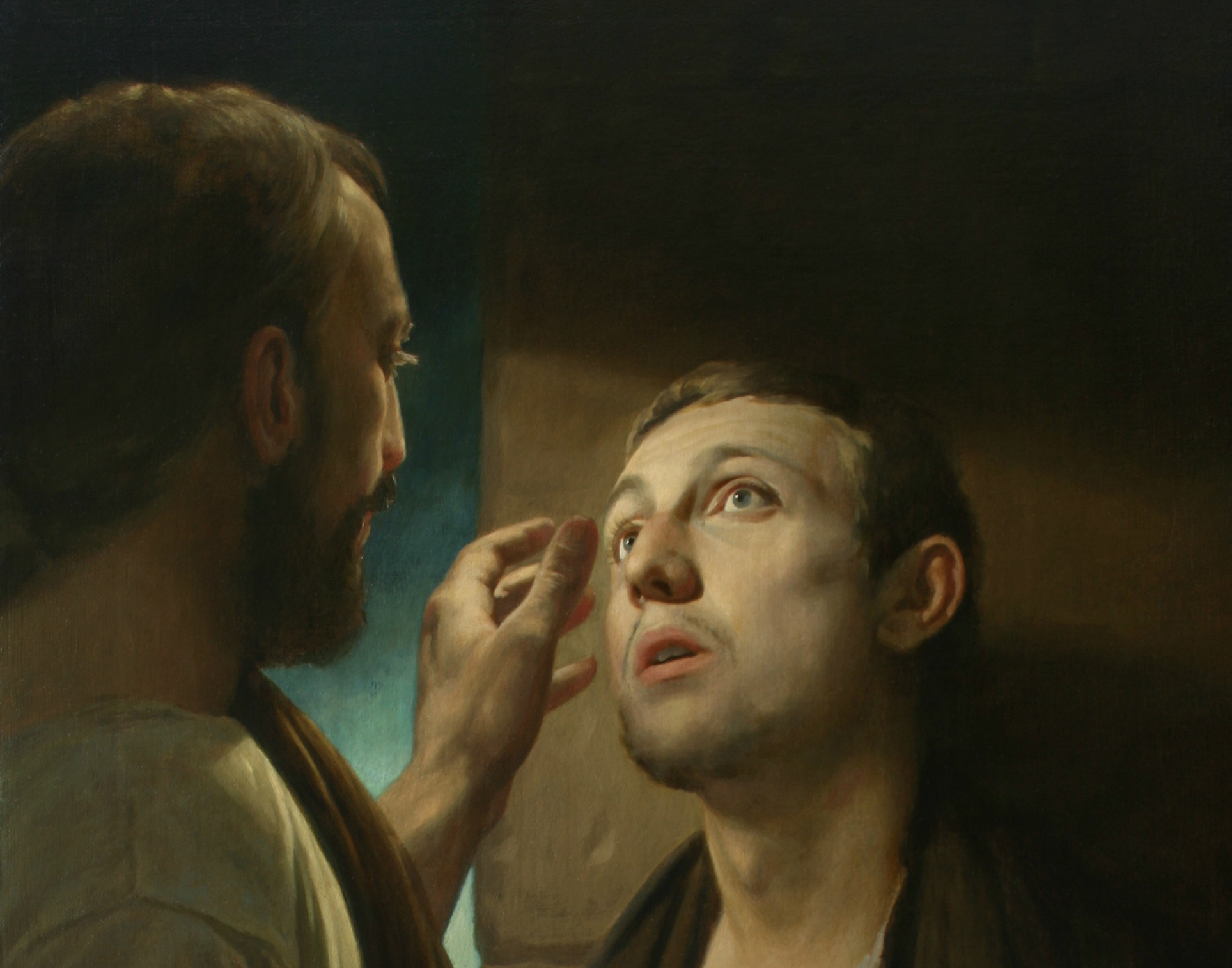 Christ and the pauper. Healing of the blind man