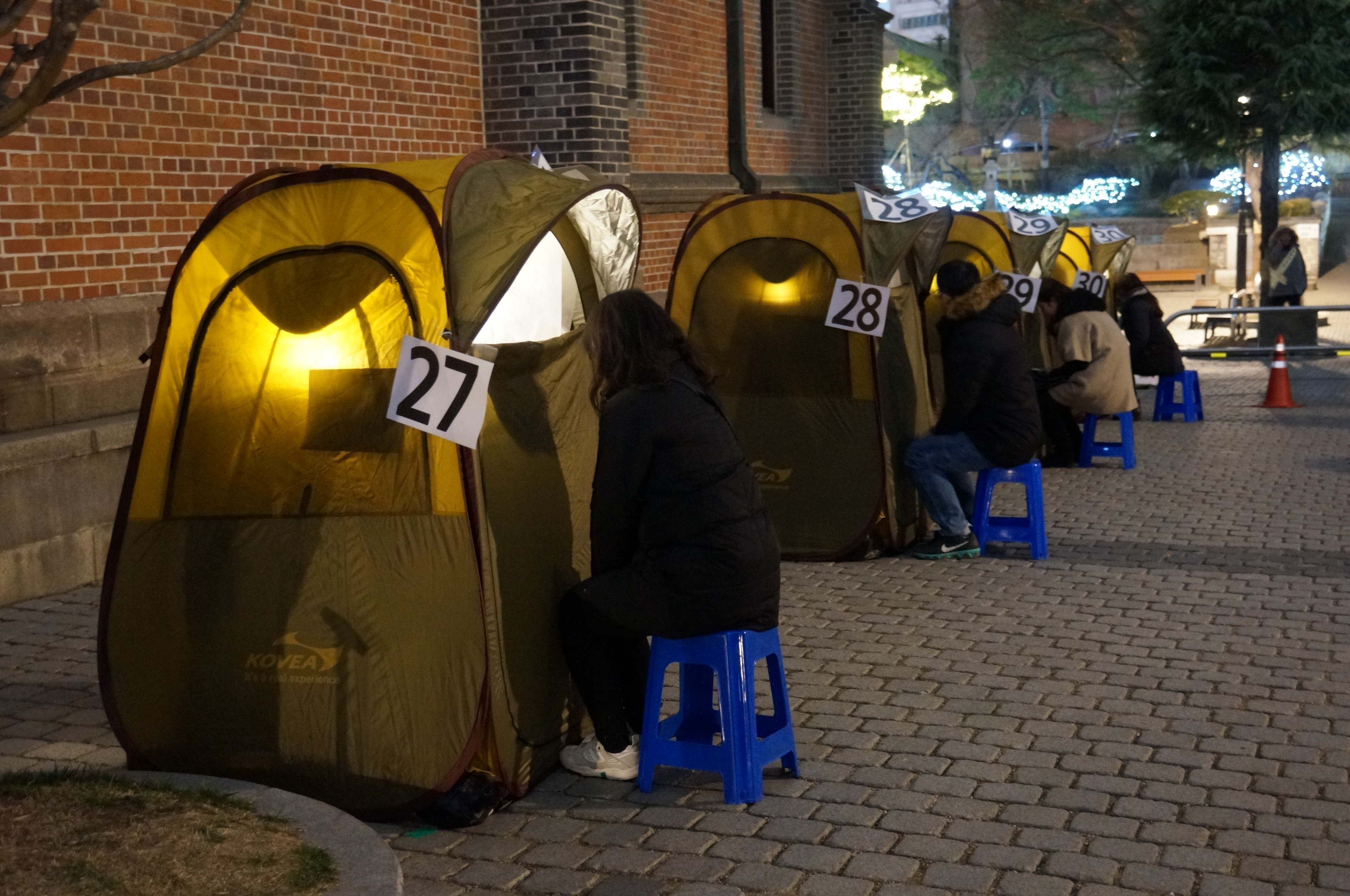 Tent Confessions in South Korea