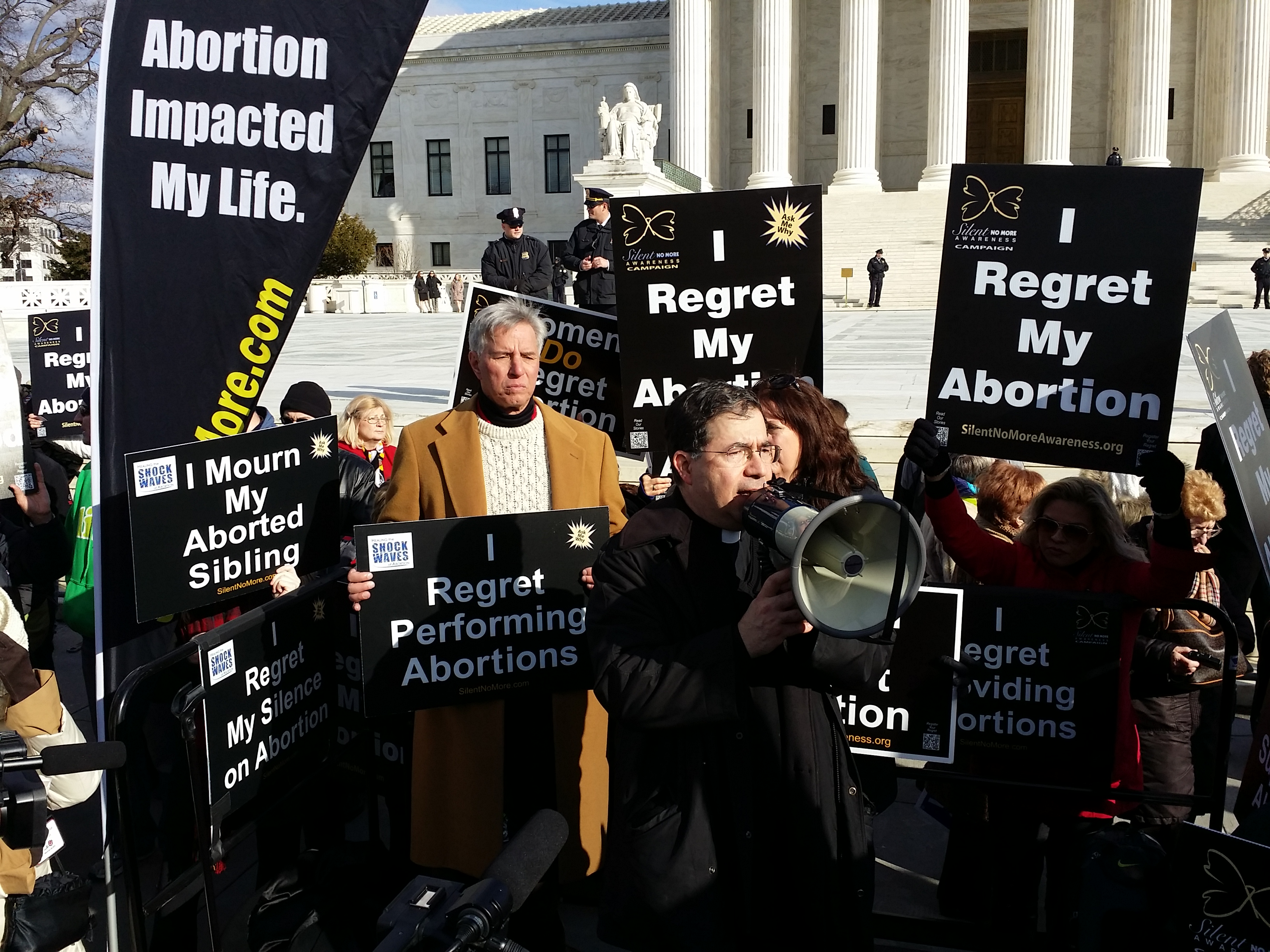 Father Frank Pavone at 2015 March for Life