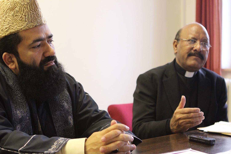 Imam Syed Muhammad  Abdul Khabir Azad and Father James Channan
