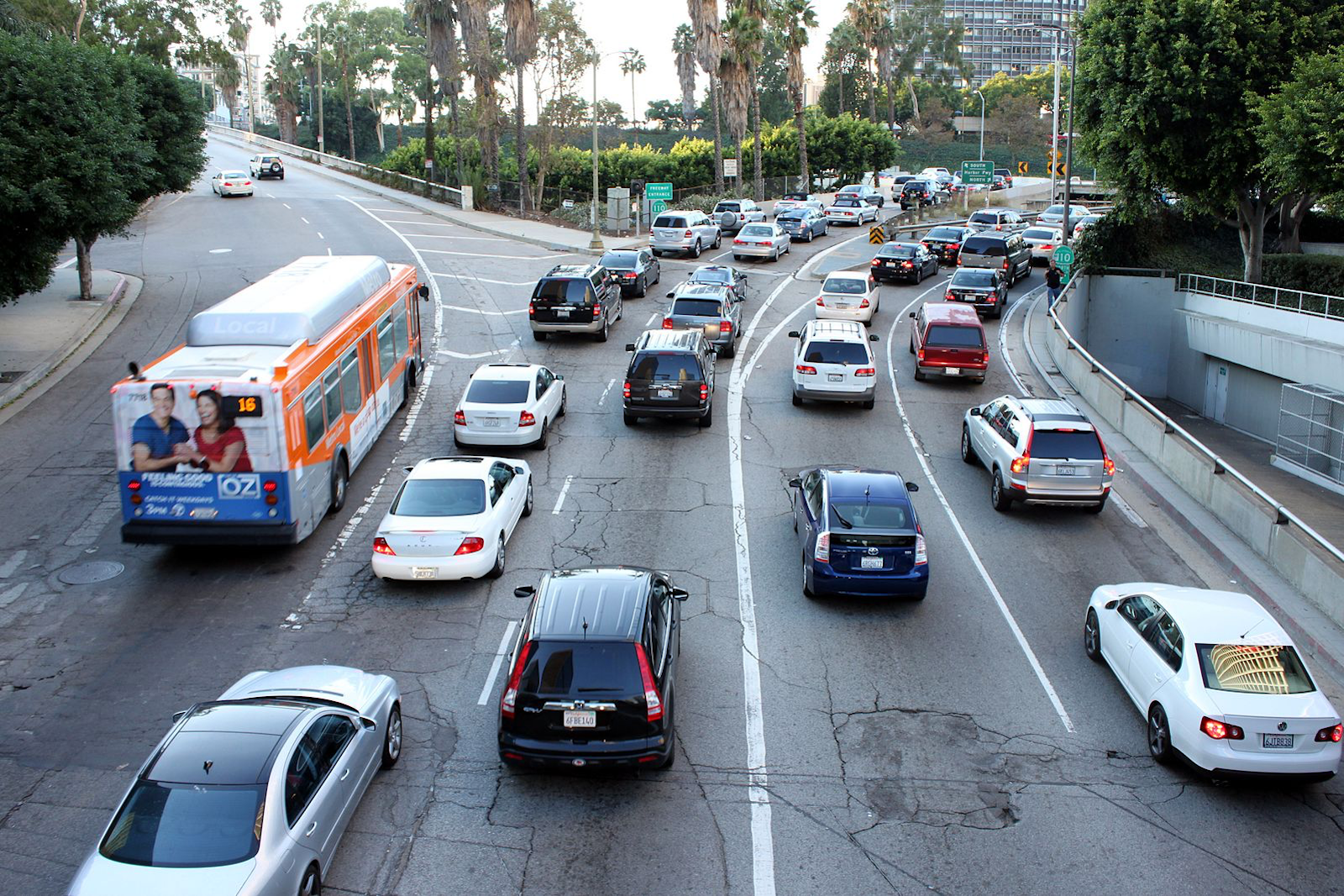 LA Traffic jam - daily occurrence