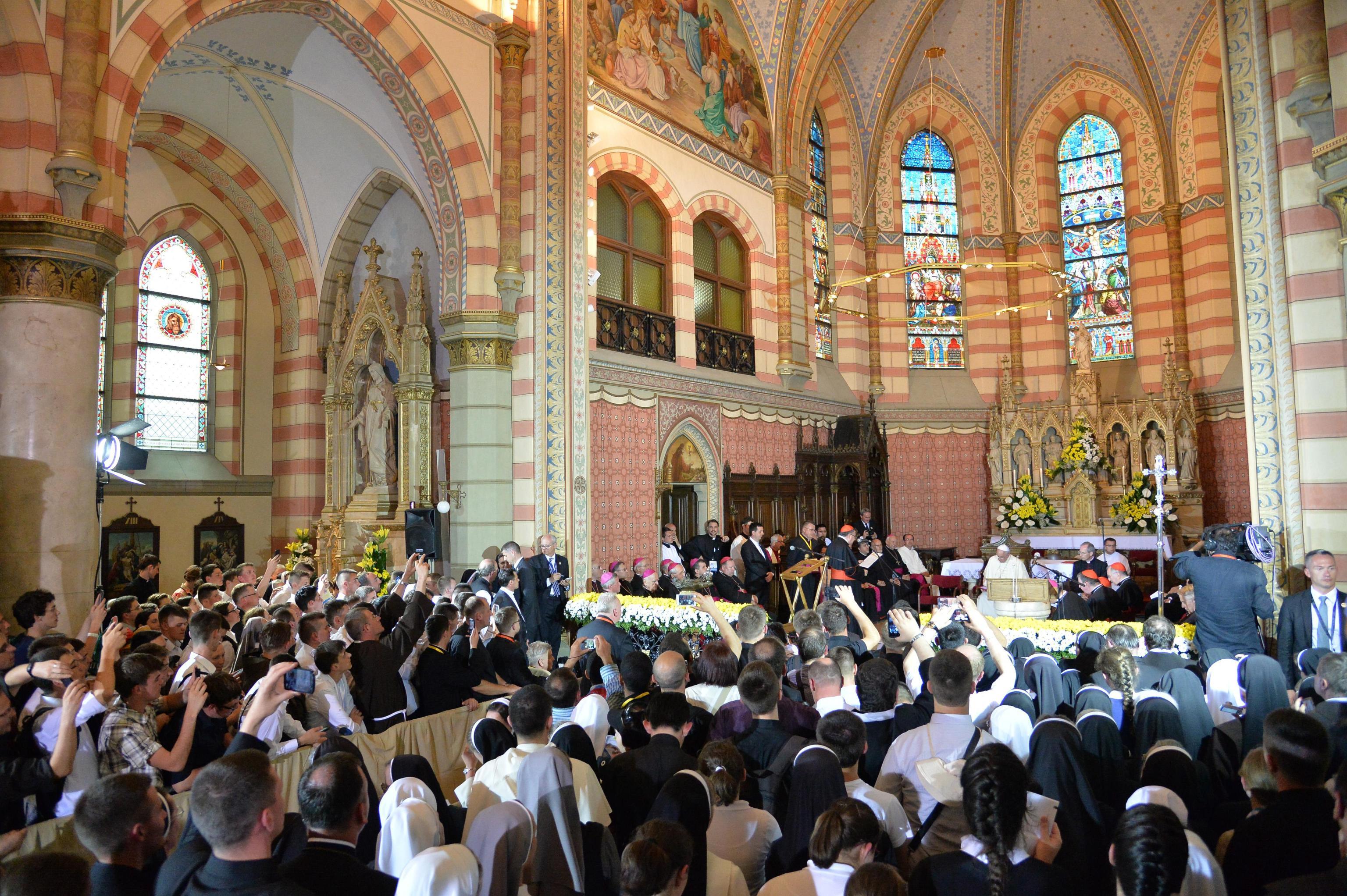 Pope Francis in Sarajevo Cathedral