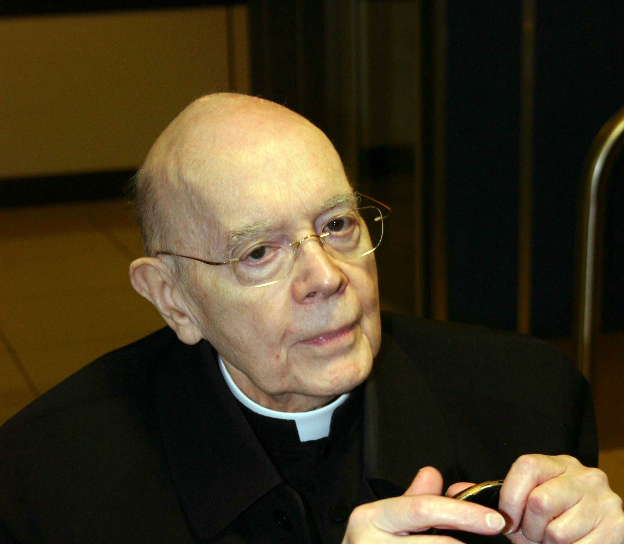 Cardinal William Wakefield Baum at his arrival at Fiumicino Airport