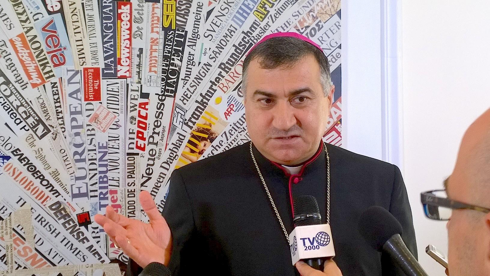 Mons. Warda archbishop of Erbil in the Kurdistan in Irak