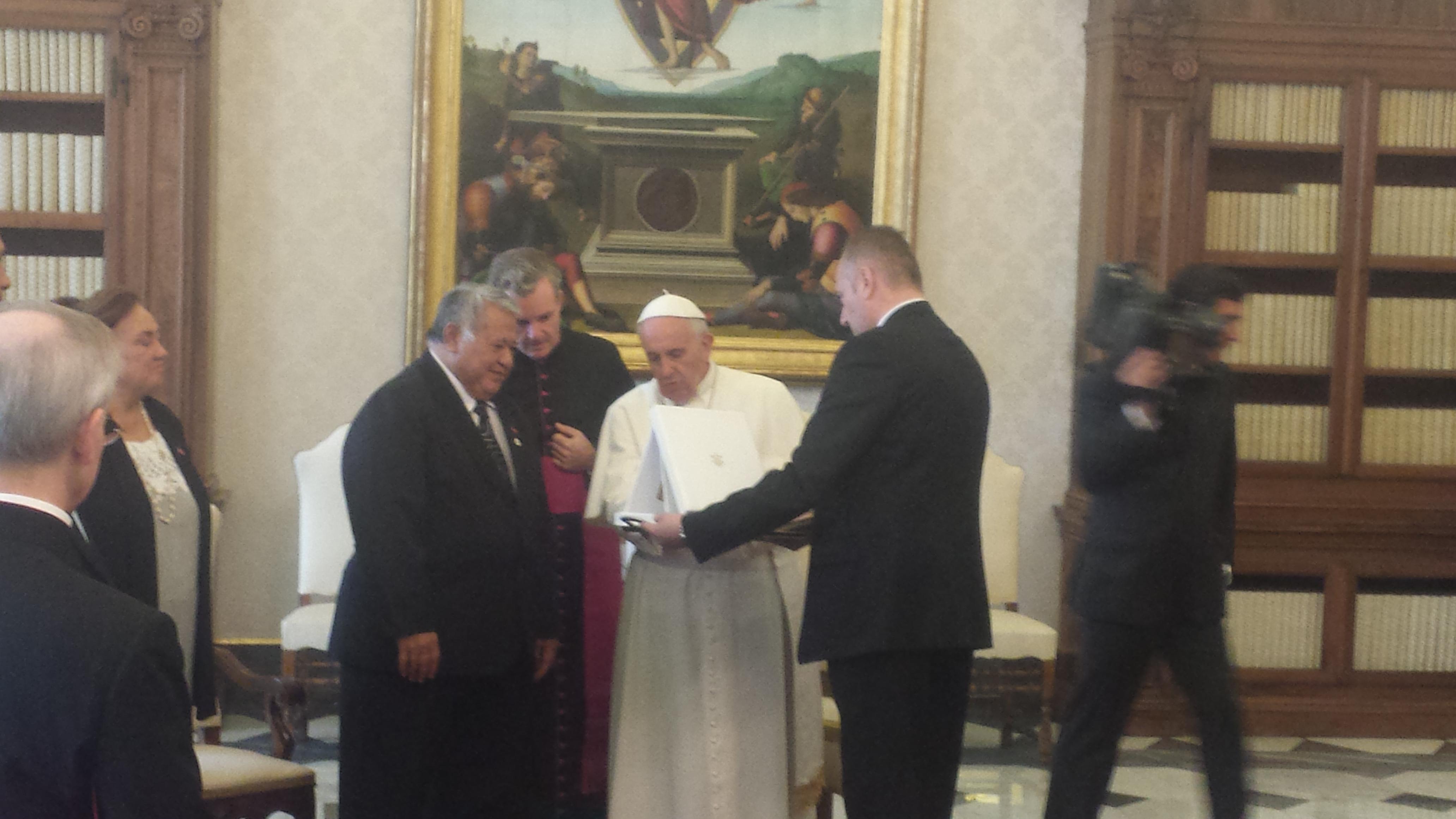 Pope Francis meets Tuilaepa Aiono Sailele Malielegaoi
