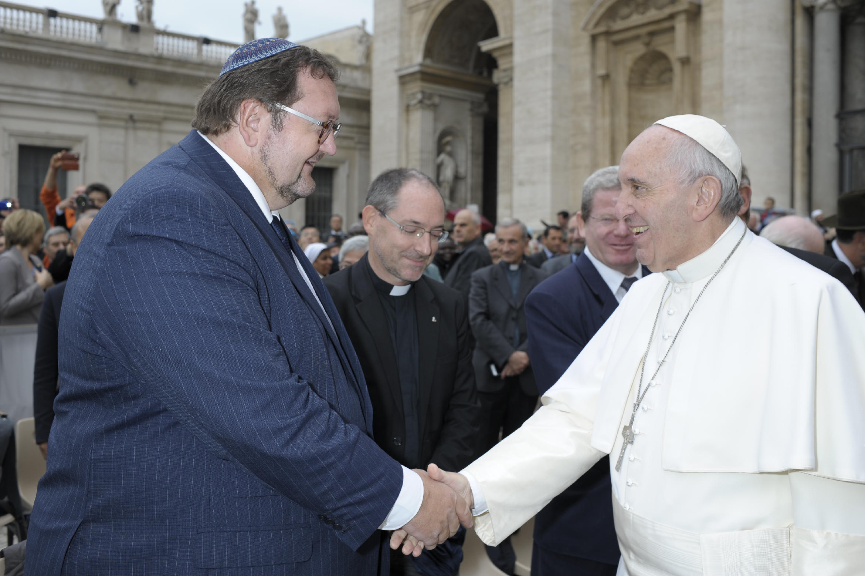 Pope Francis meets Rabbi Walter Homolka