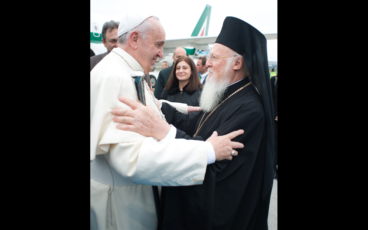 Pope Francis and patriarch Bartolomew