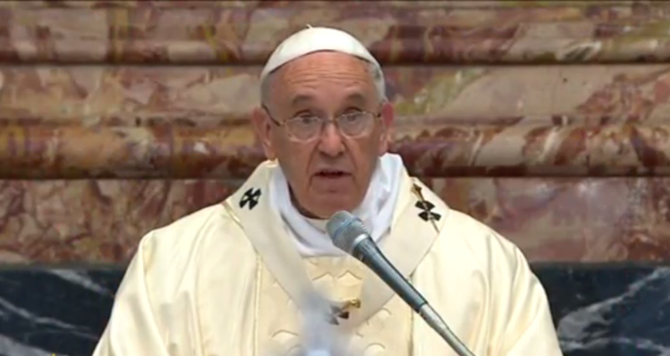Pope Francis preaching at Opening Mass of Caritas Internationalis' General Assembly
