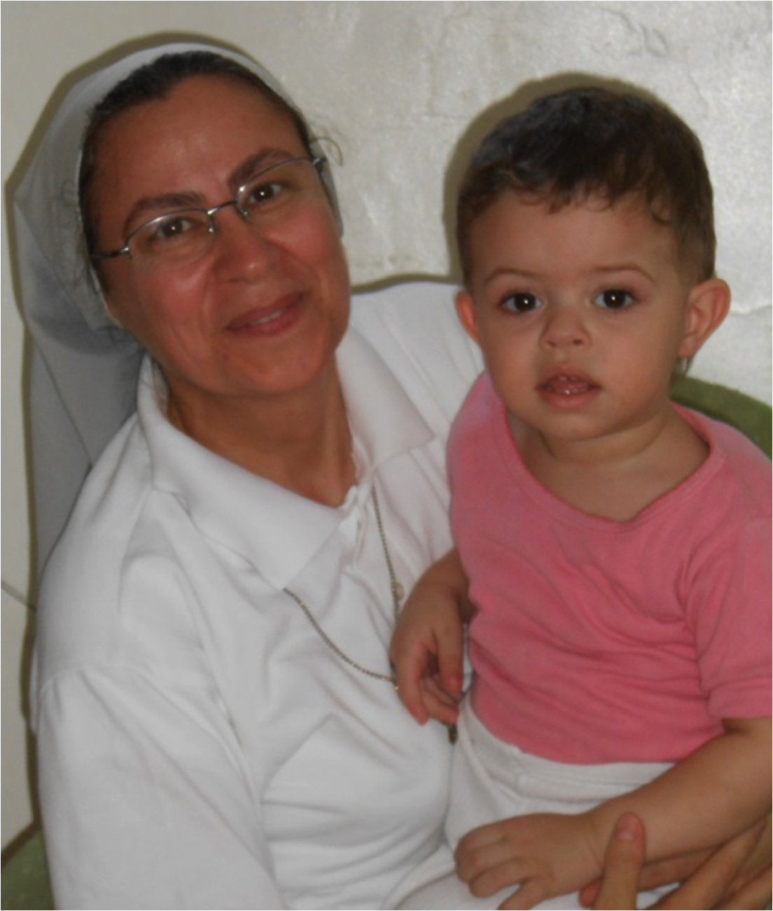 Sister Annie Demerjian with one of her charges in Aleppo