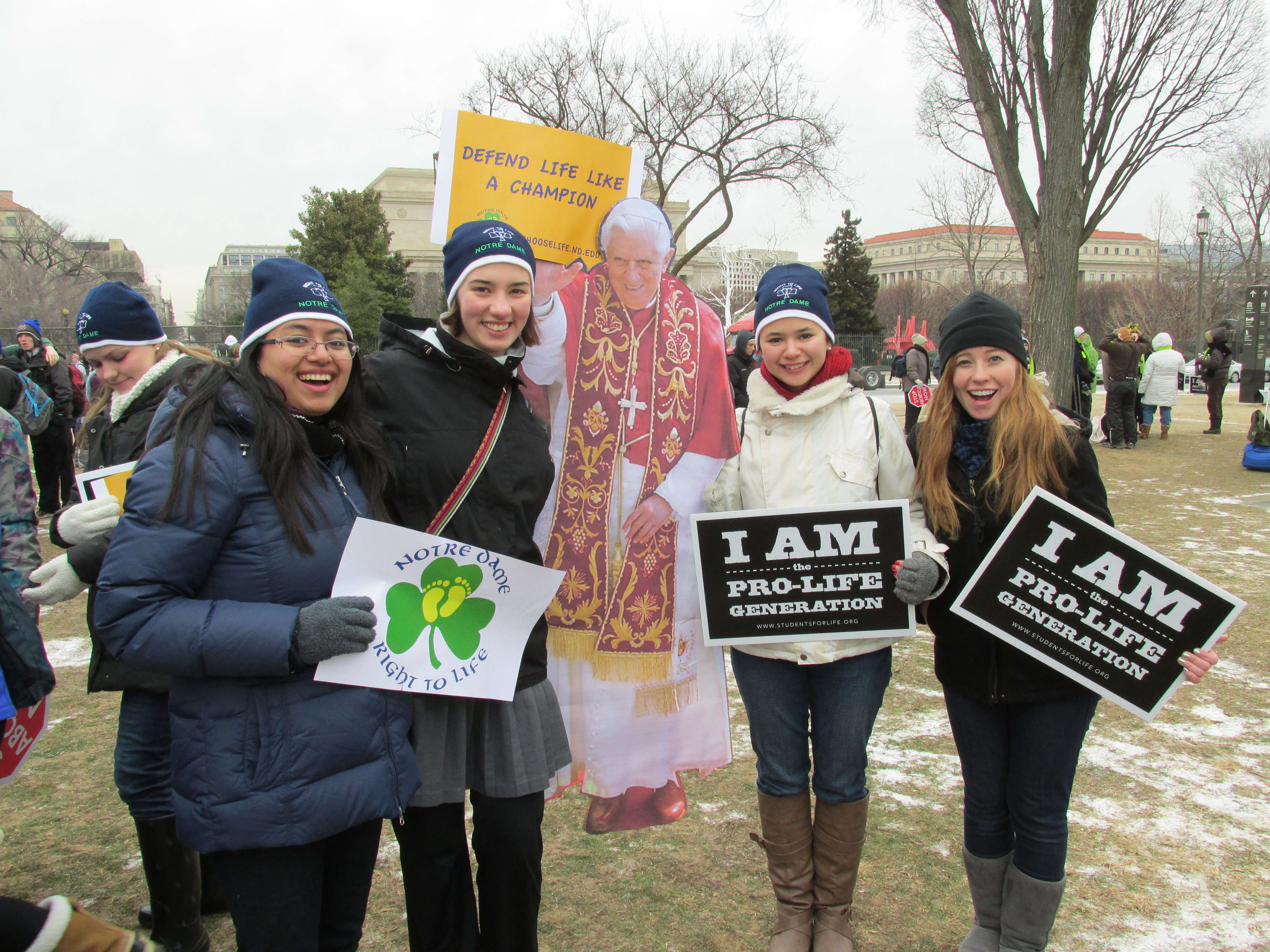 Students at the annual March for Life