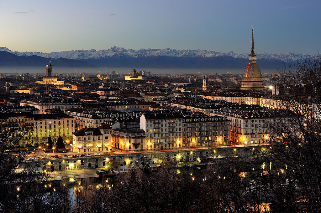City of Turin by night