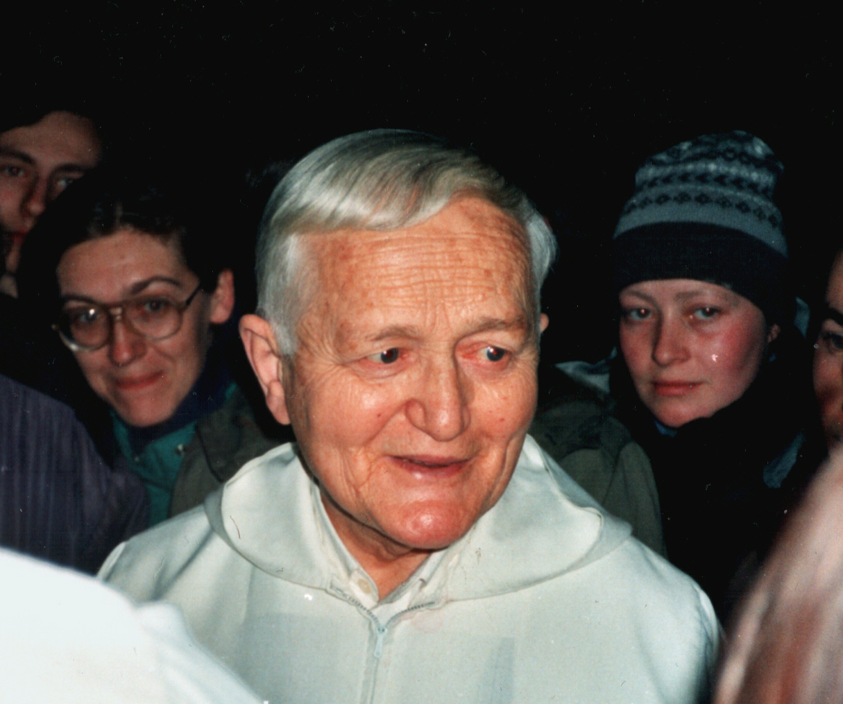 Frère Roger Schutz of Taizé at 1991-92 New Year European Meeting in Budapest