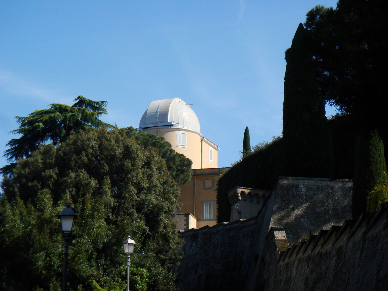 Vatican observatory and the Pontificial Palace in Castel Gandolfo with the Giardino del Moro