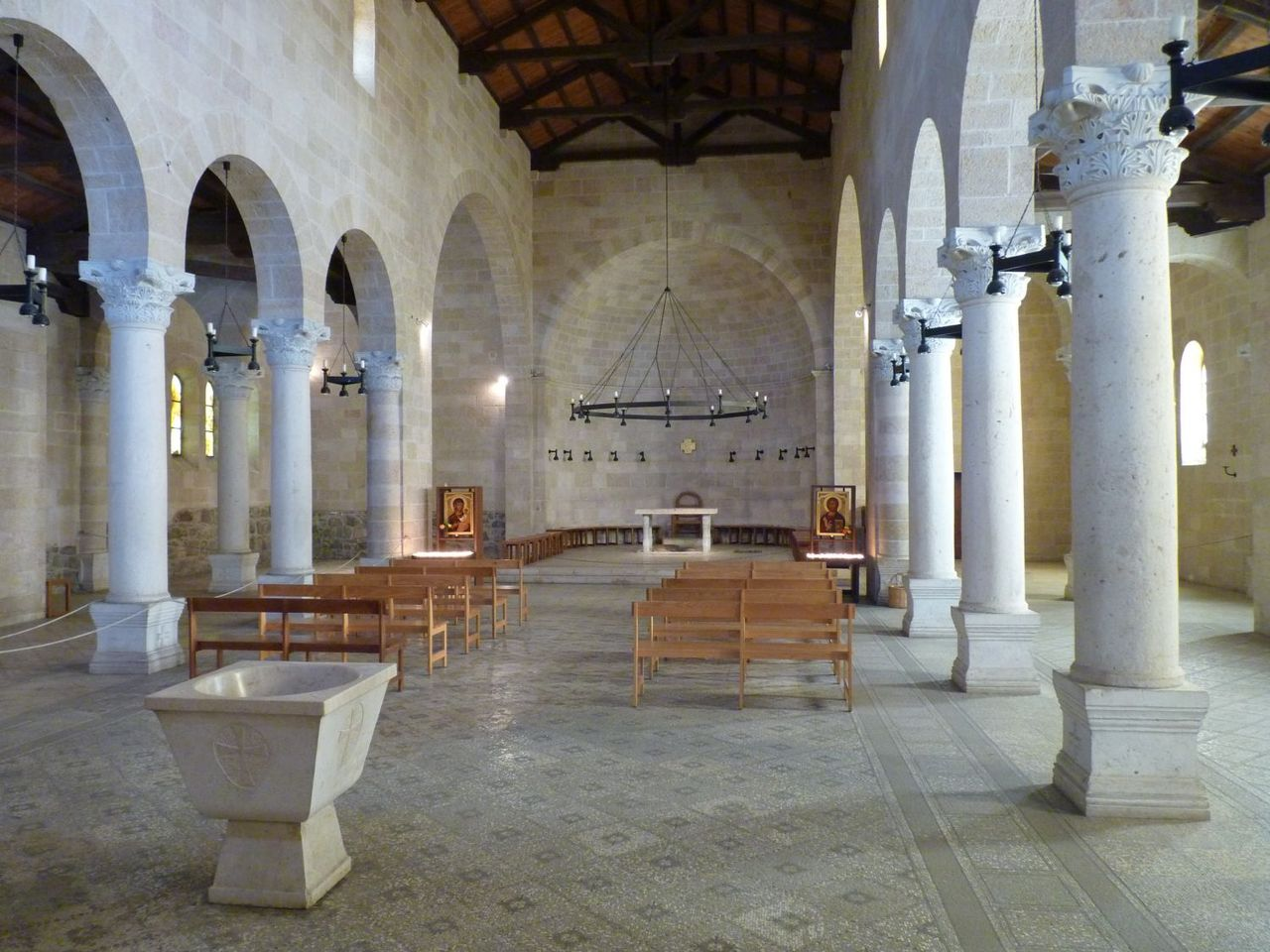 Inside the Church of the Multiplication of the Loaves and Fishes
