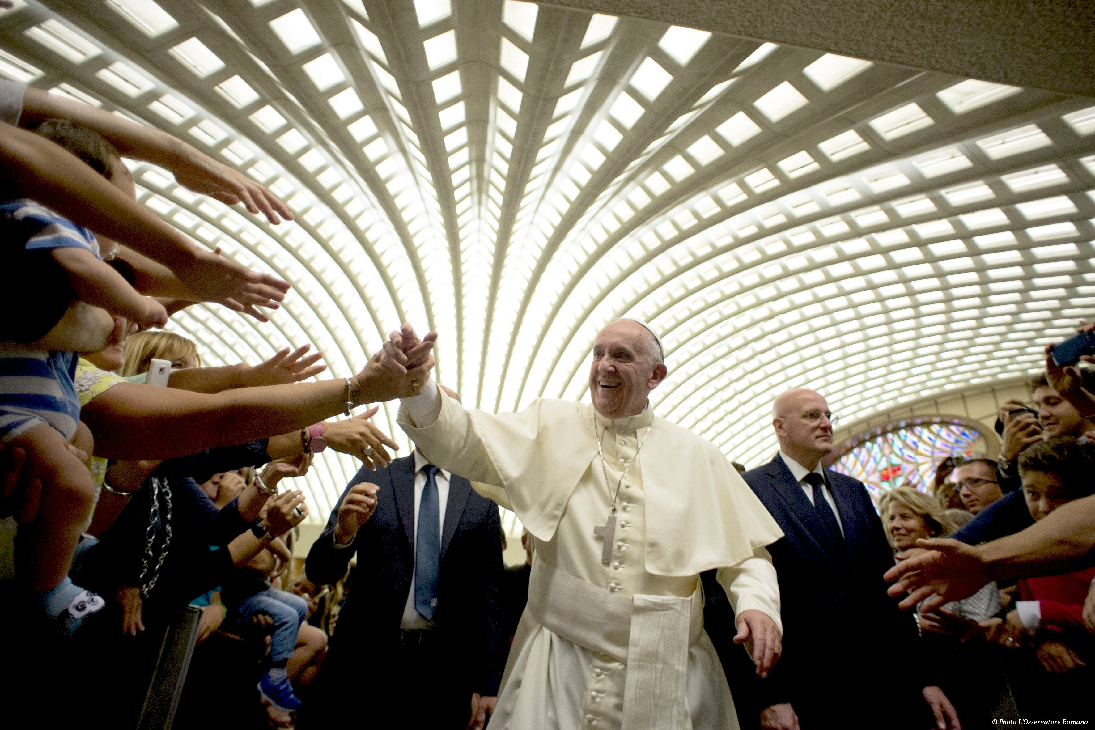 Pope Francis meet employers and dirigents of Credito Cooperativo di Roma - 12 Sept. 2015