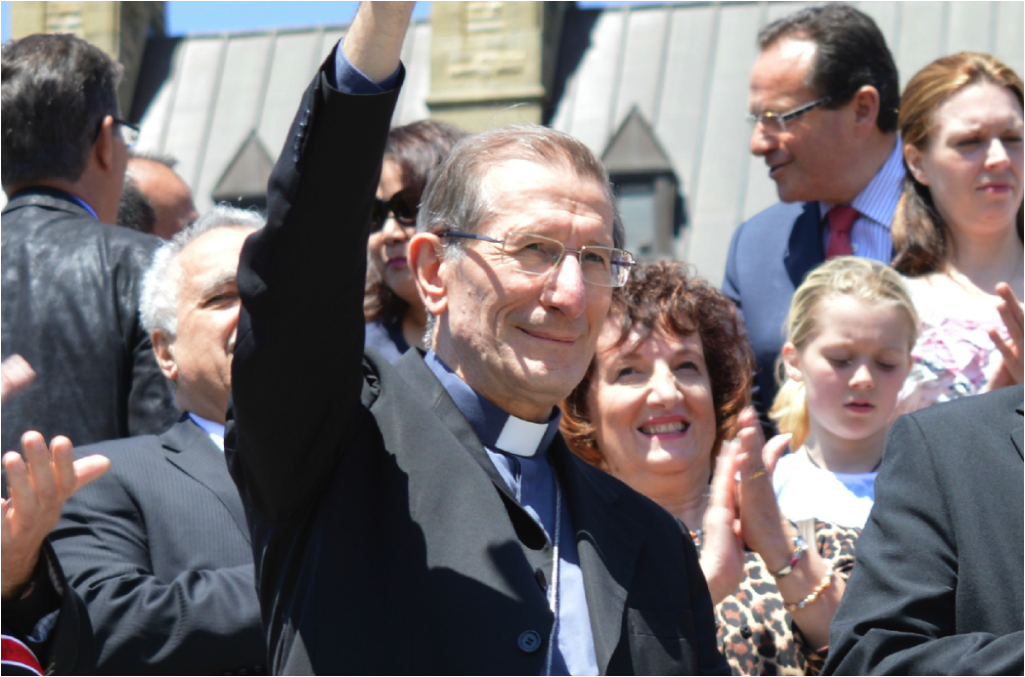 Archbishop and Apostolic Nuncio Luigi Bonazzi at the March for Life Canada 2015