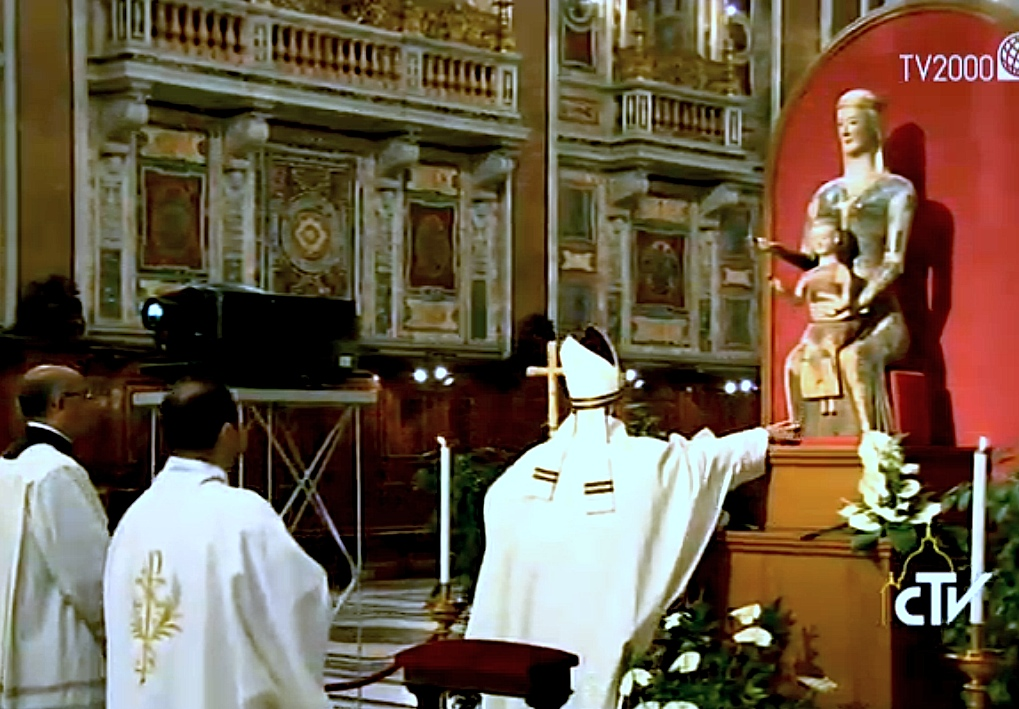Pope Francis meet priest in the catedral of Rome - 12 June 2015
