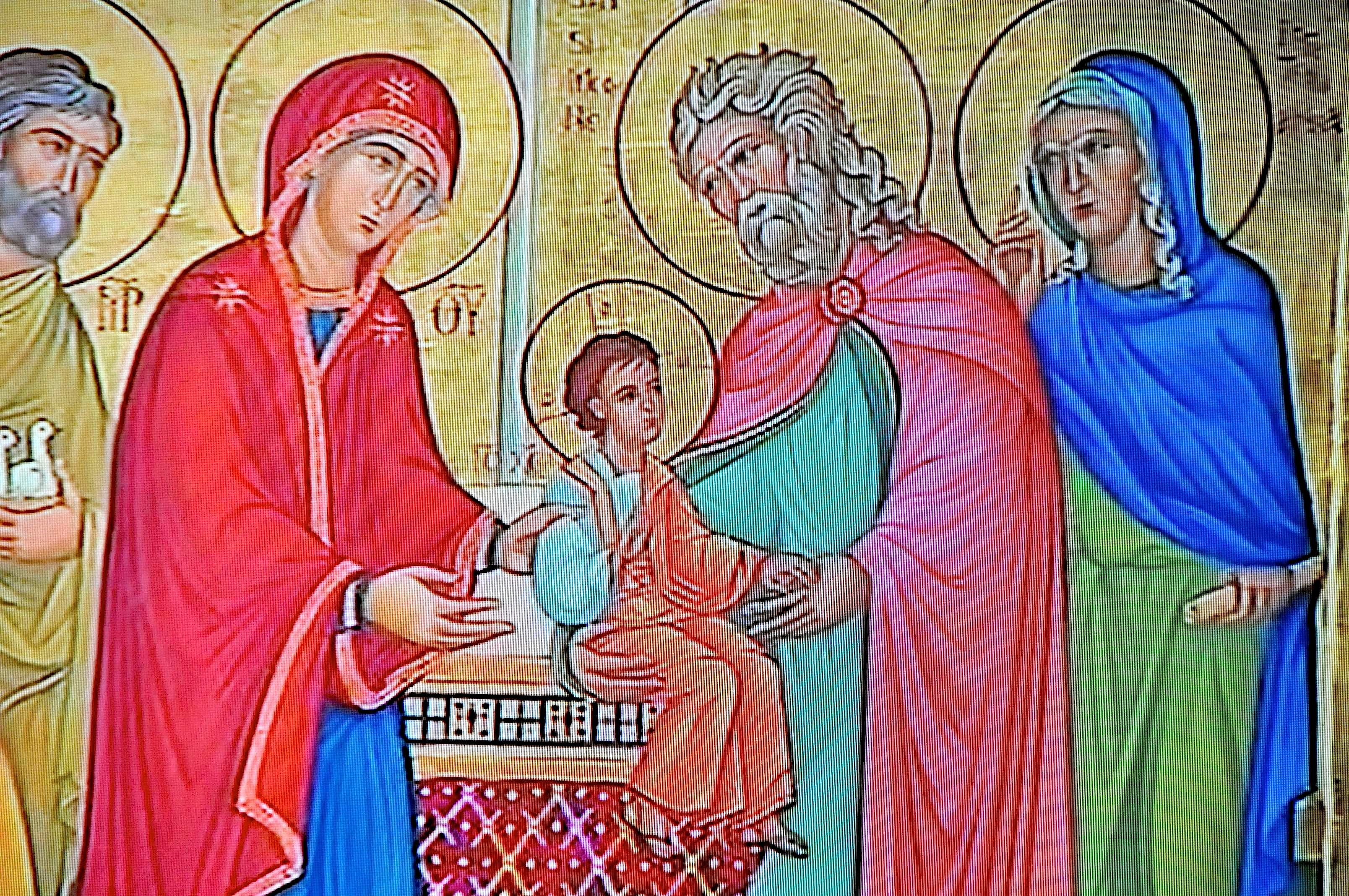 Icone of Holy Family during the vigilia of pray before the Synod of family