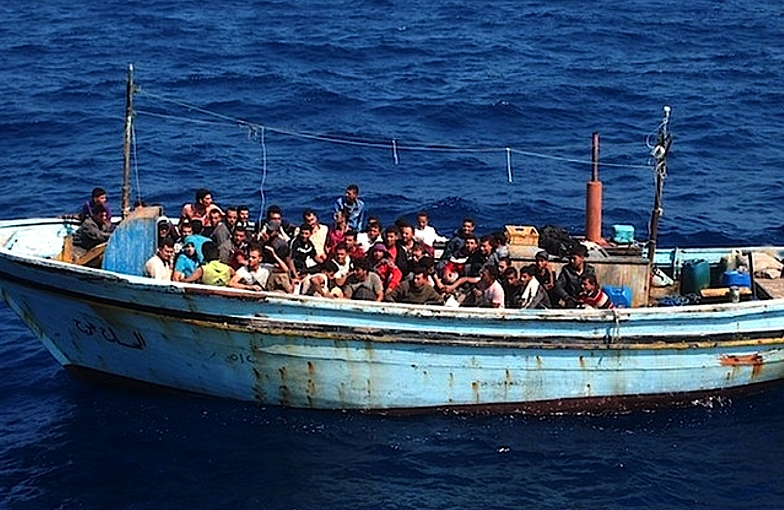 African Migrants Crossing the Mediterranean