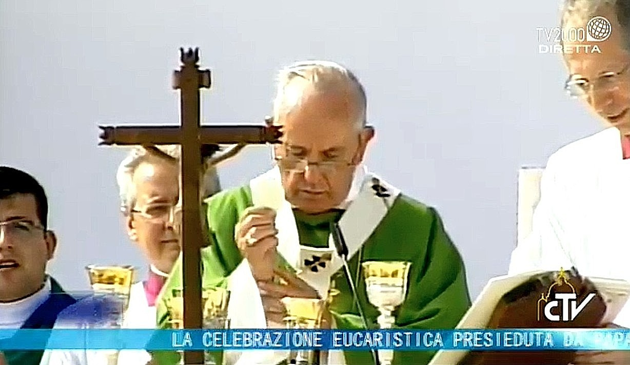 Pope Francis during the Holy Mass in Asunción del Paraguay