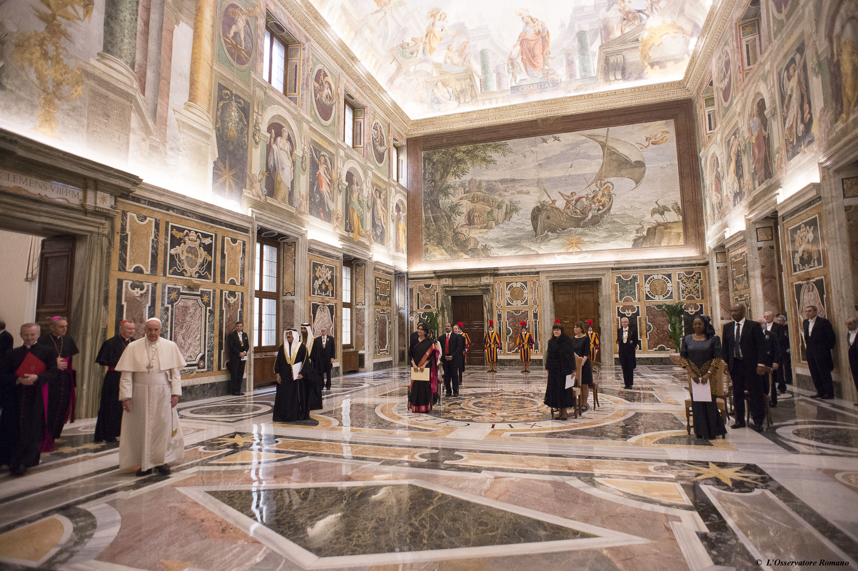 Pope Francis receives new ambassadors at the Holy See