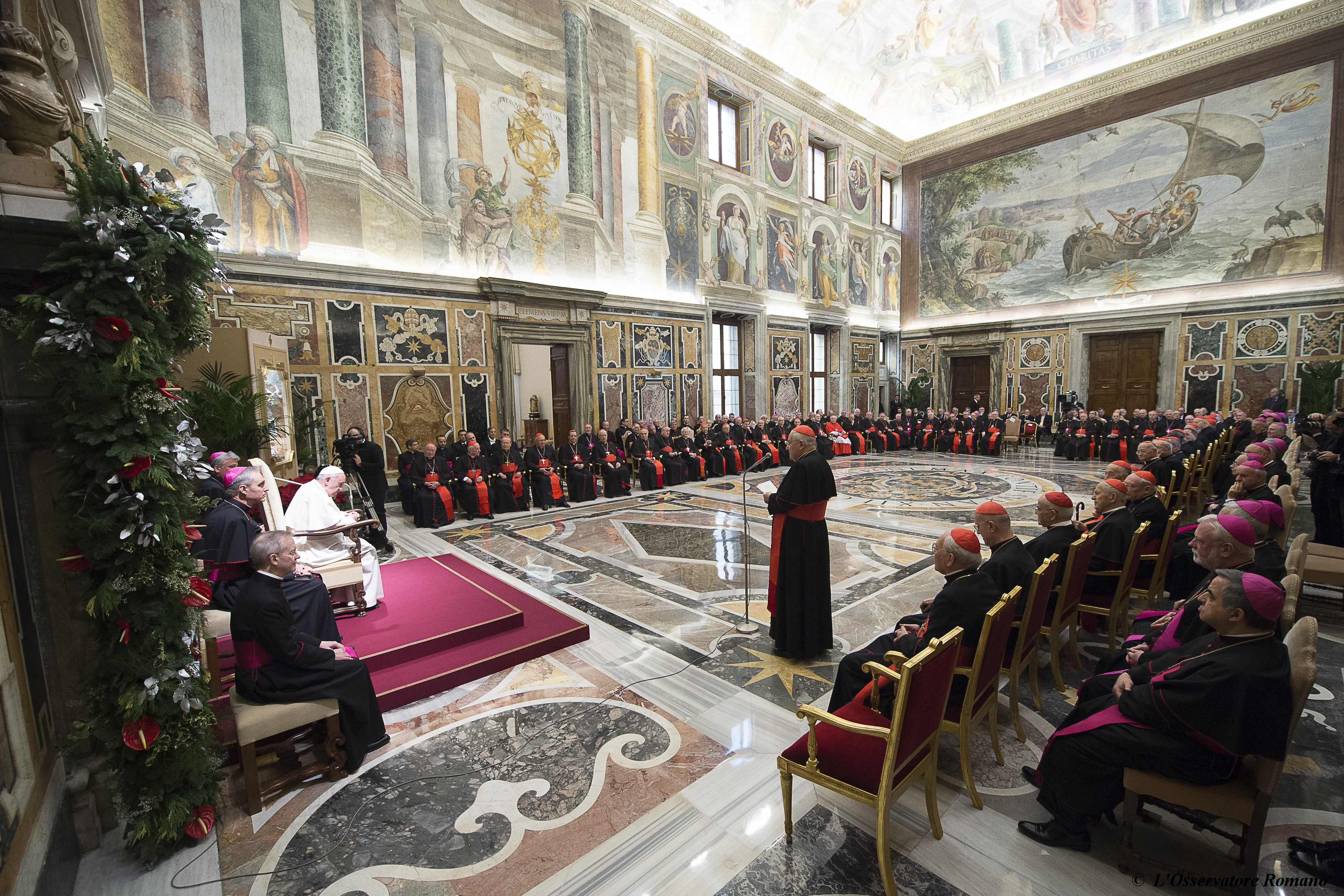 Traditional Christmas' Greetings to the Roman Curia
