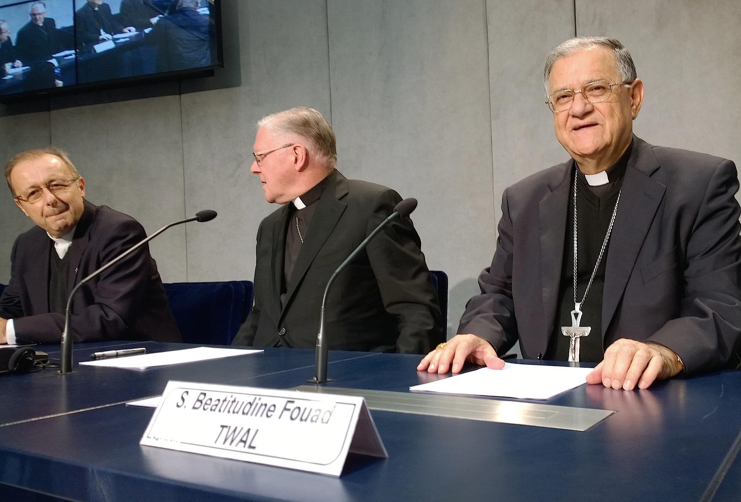 Patriarch Fouad Twal - briefing 19 Oct. 2015