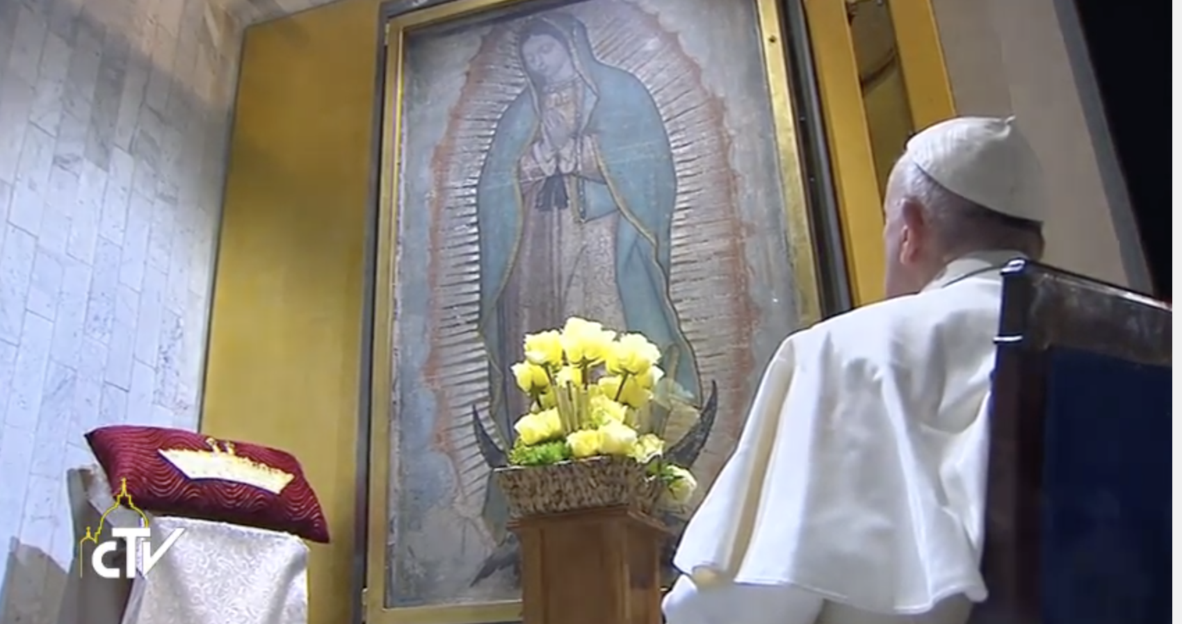 Pope with Our Lady of Guadalupe
