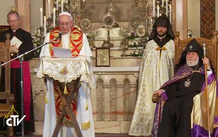Pope at Cathedral in Armenia, Opening Greetings
