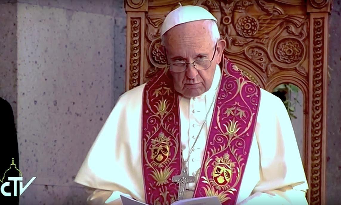 Divine Liturgy. Day 3 in Armenia -- CTV Screenshot