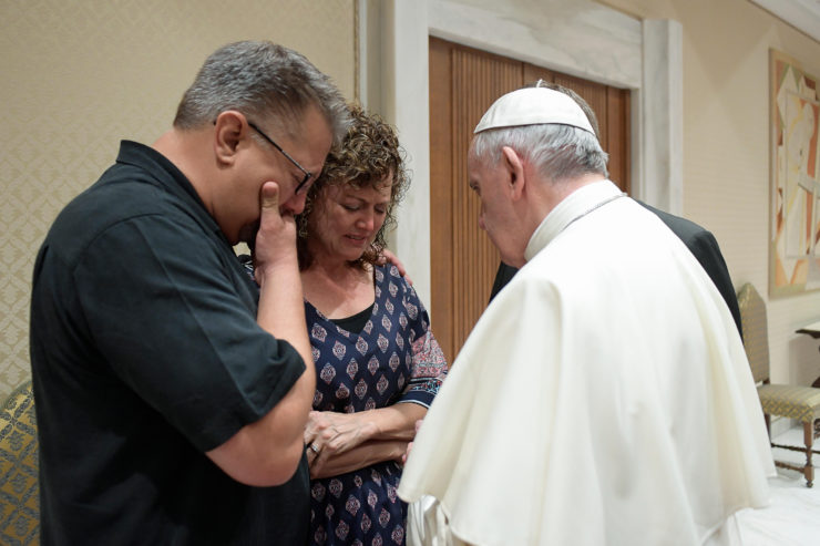 Pope Meets Parents of American Student Killed in Rome - @Servizio Fotografico - L'Osservatore Romano