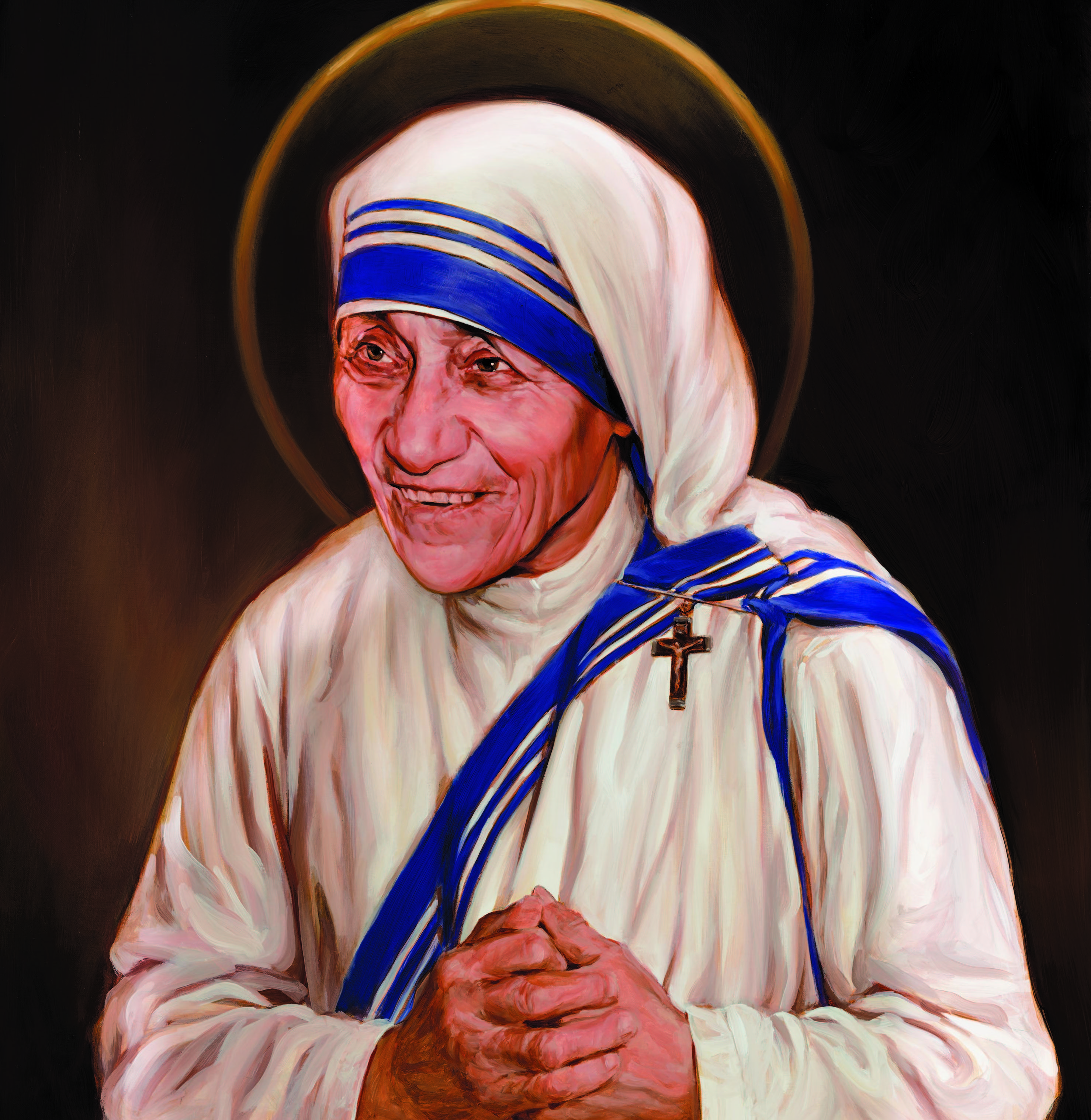 Canonization Painting Of Mother Teresa The Work Of American Artist