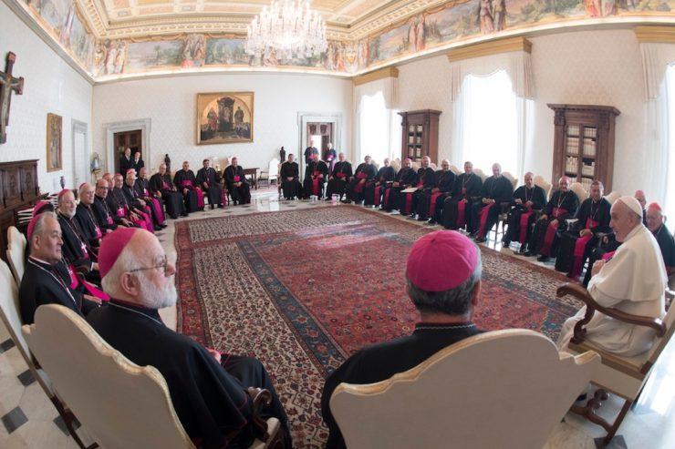 el-papa-con-los-obispos-chilenos-durante-la-visita-ad-limina-740x493