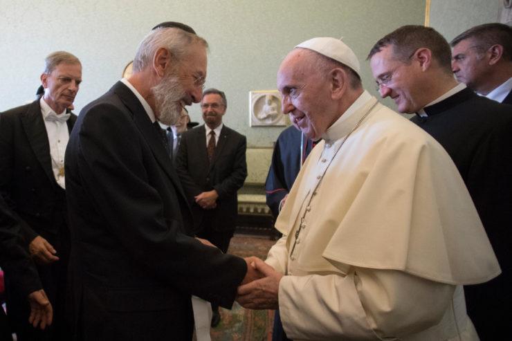 Prof. Riccardo di Segni, Chief Rabbi of Rome 31/08/2017 © L'Osservatore Romano
