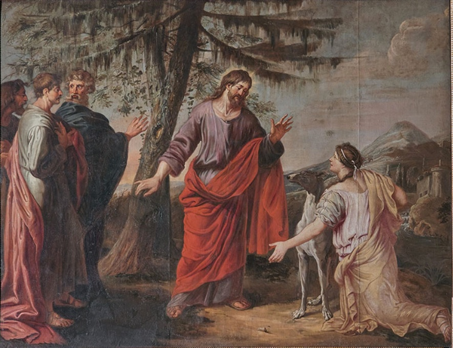 Michael Angelo Immenraet, Jesus and the Woman of Canaan, Public Domain