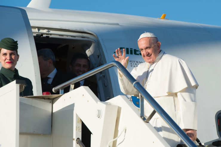 Pope Francis on one of his many travels© L'Osservatore Romano